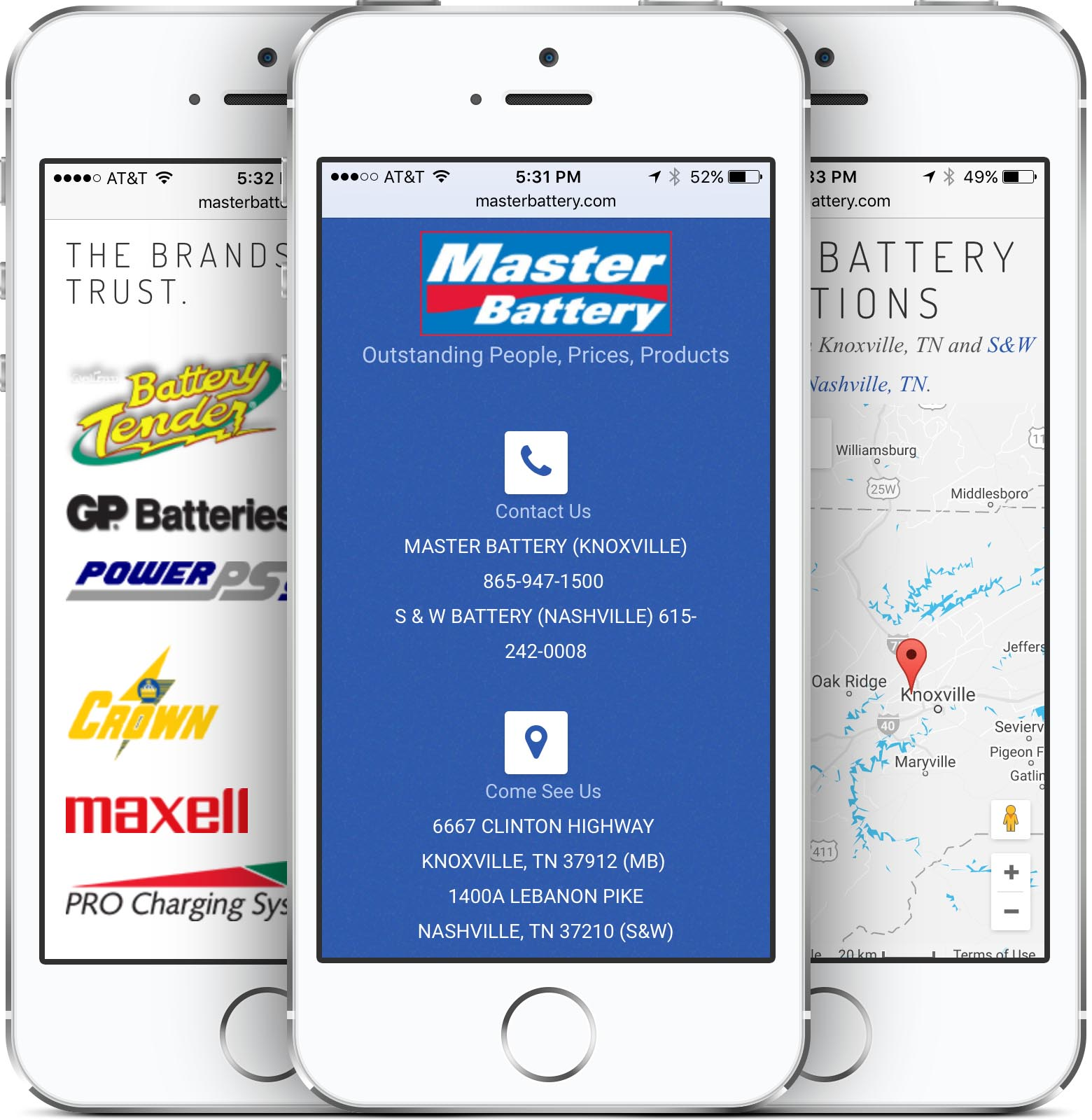Master Battery Mobile Friendly Web Design