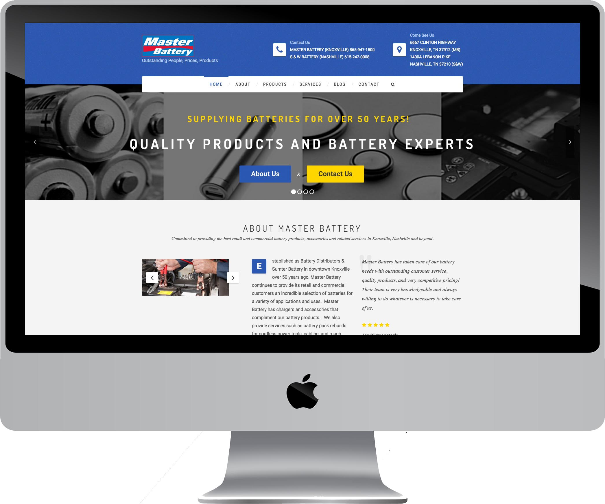 Master Battery Web Design
