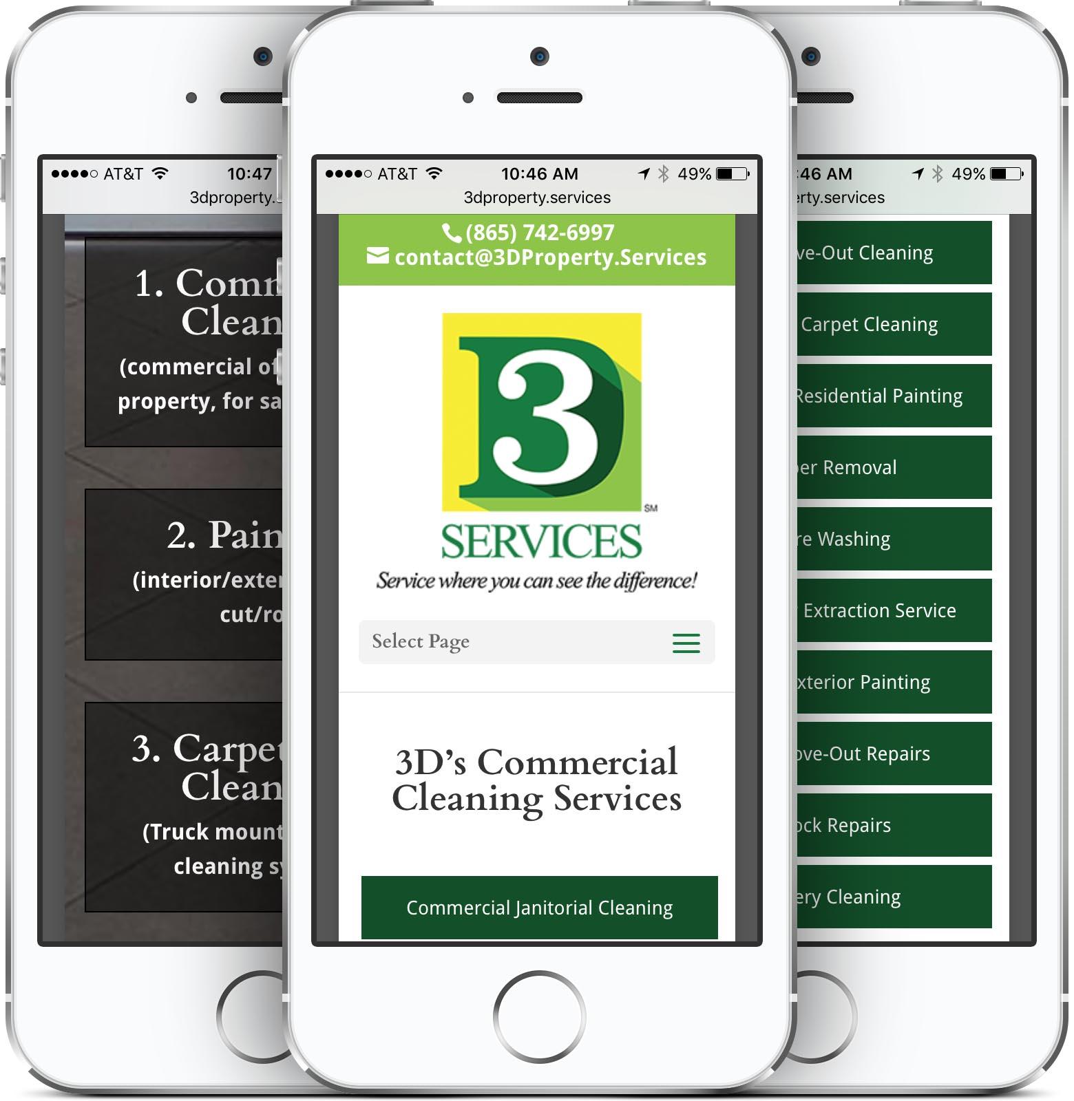 3D Services Mobile-Friendly Web Design