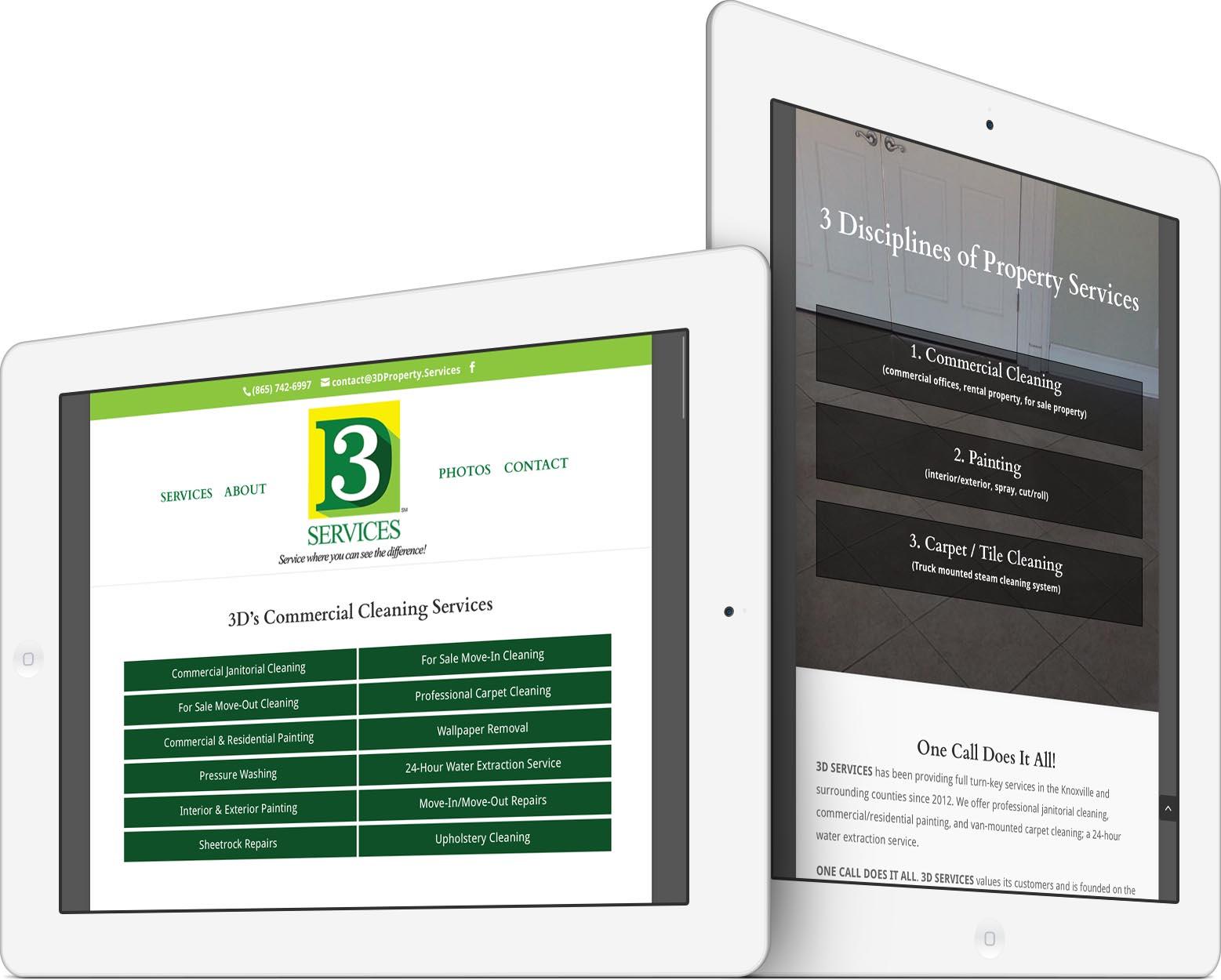 3D Services Responsive Web Design