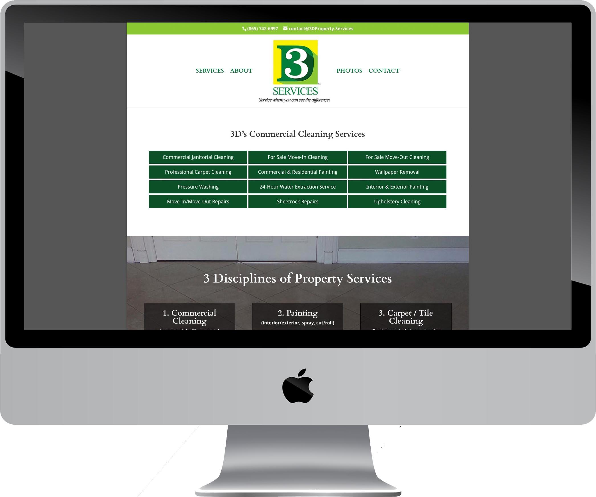 3D Services Website Design
