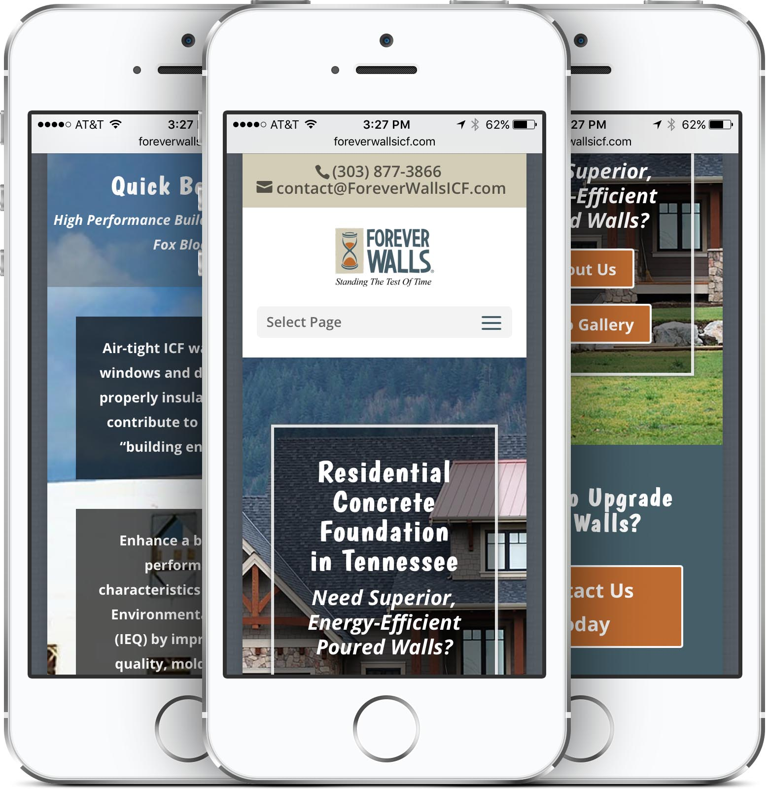 Forever Walls Mobile-Friendly Web Design
