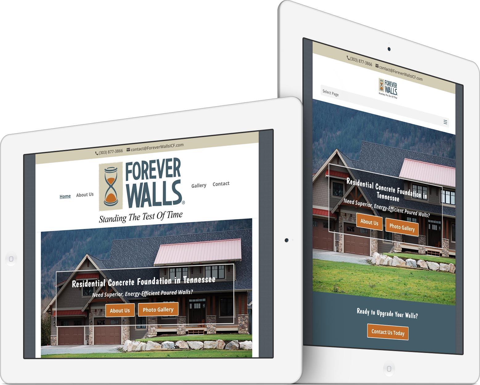 Forever Walls Responsive Web Design