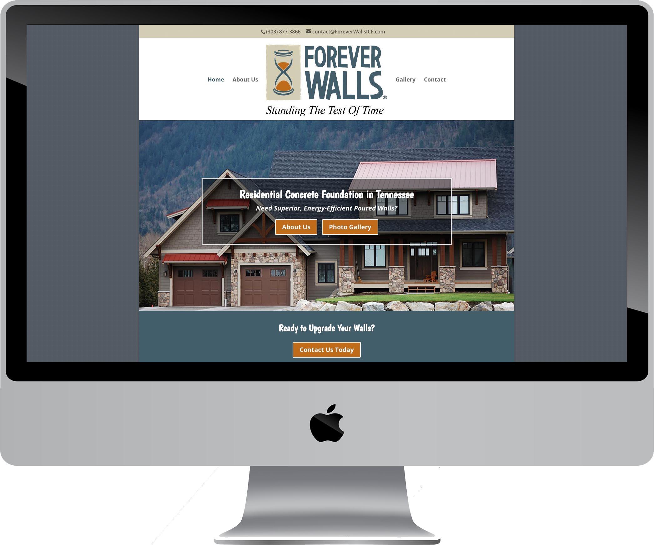 Forever Walls Website Design