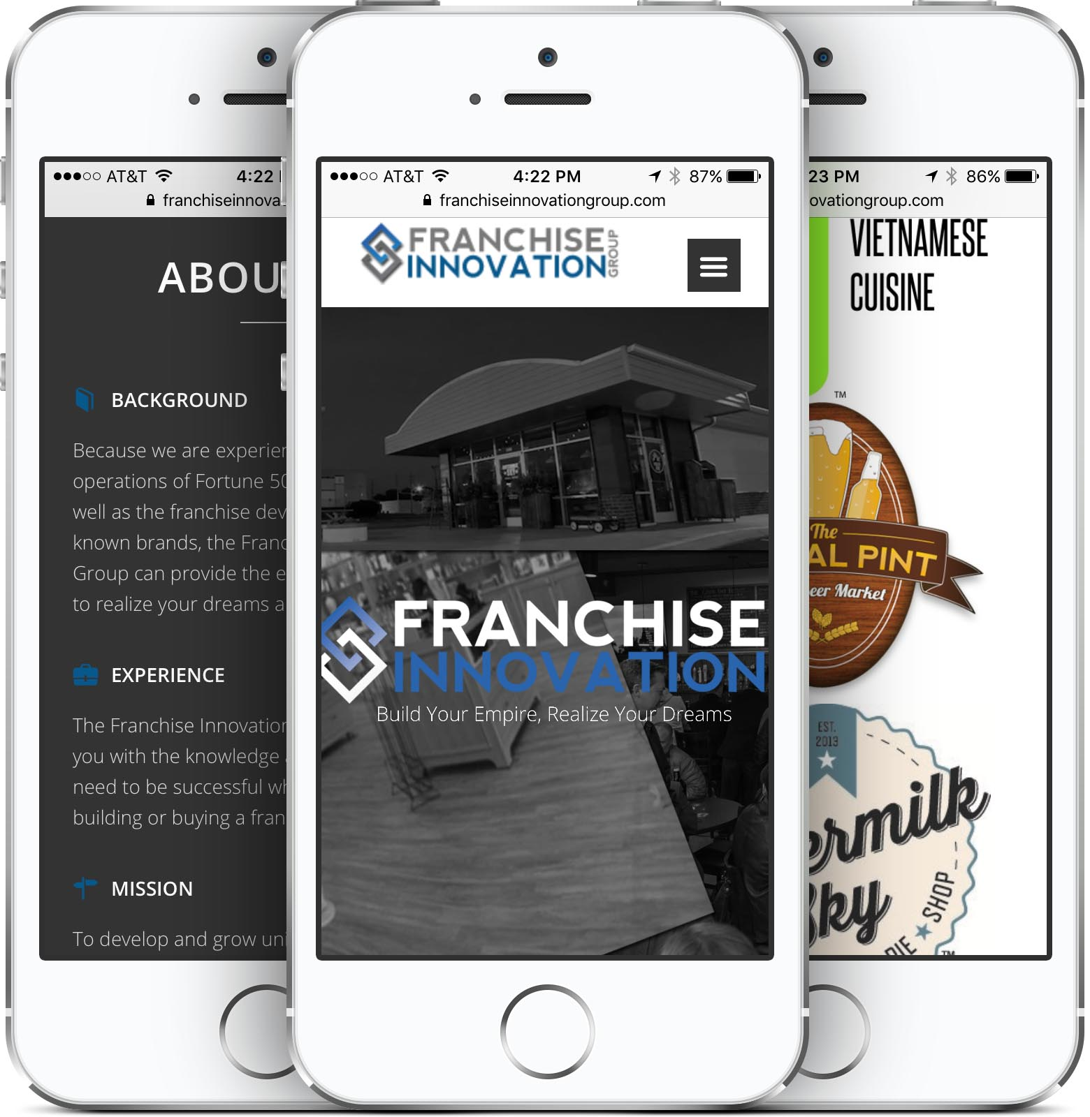 Franchise Innovation Group Mobile-Friendly Web Design