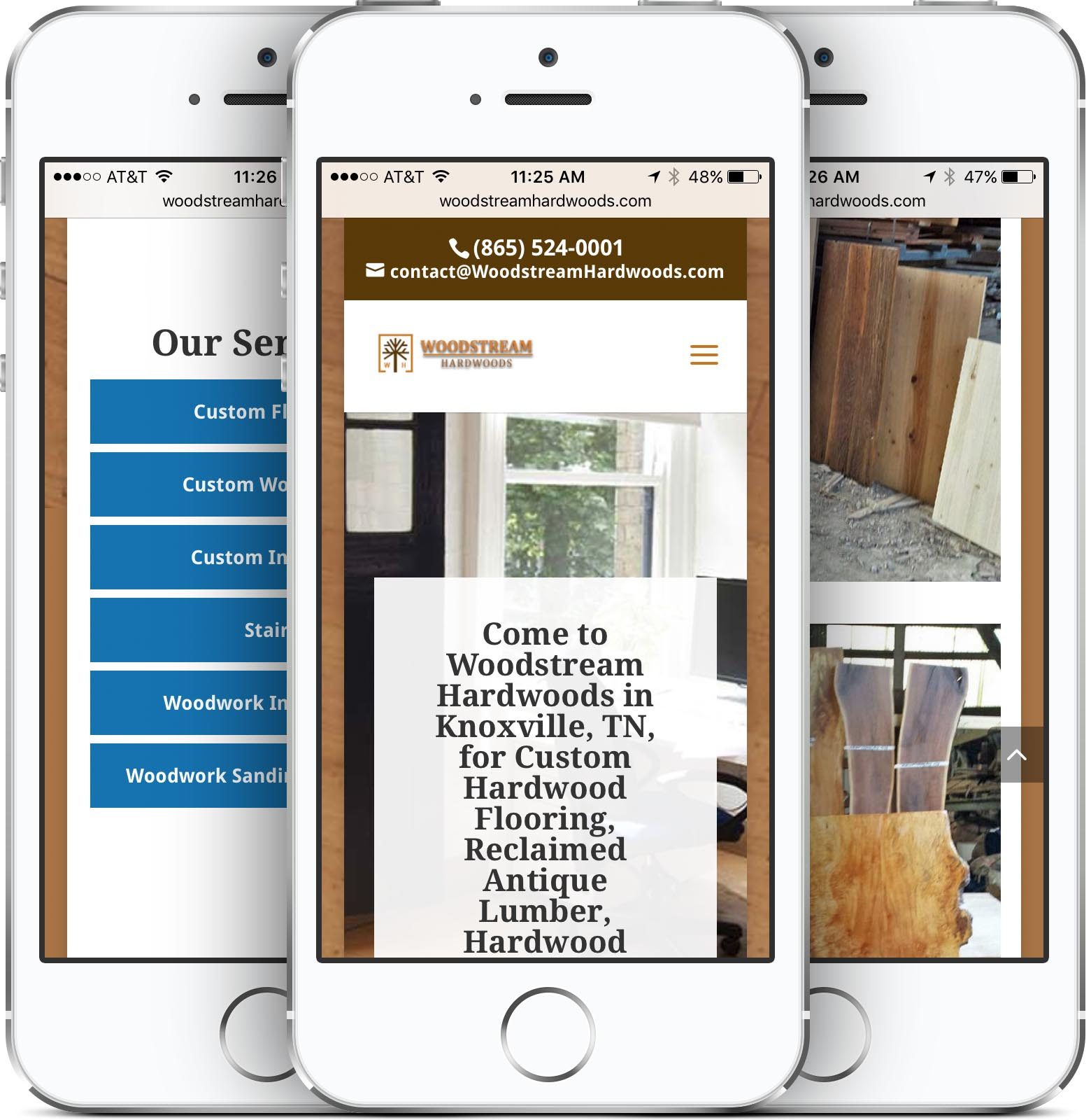 Woodstream Hardwoods Mobile Friendly Web Design