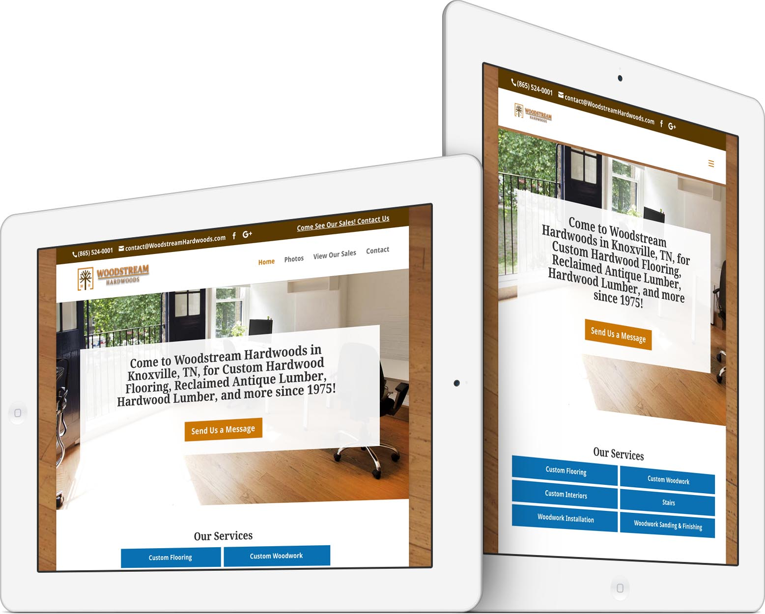 Woodstream Hardwoods Responsive Web Design