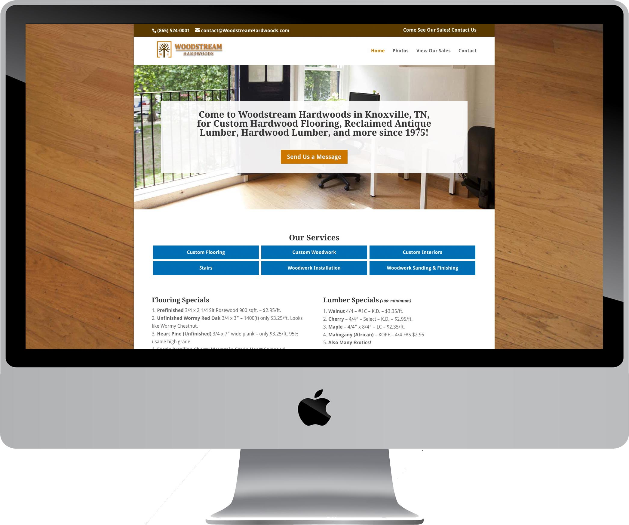 Woodstream Hardwoods Website Design