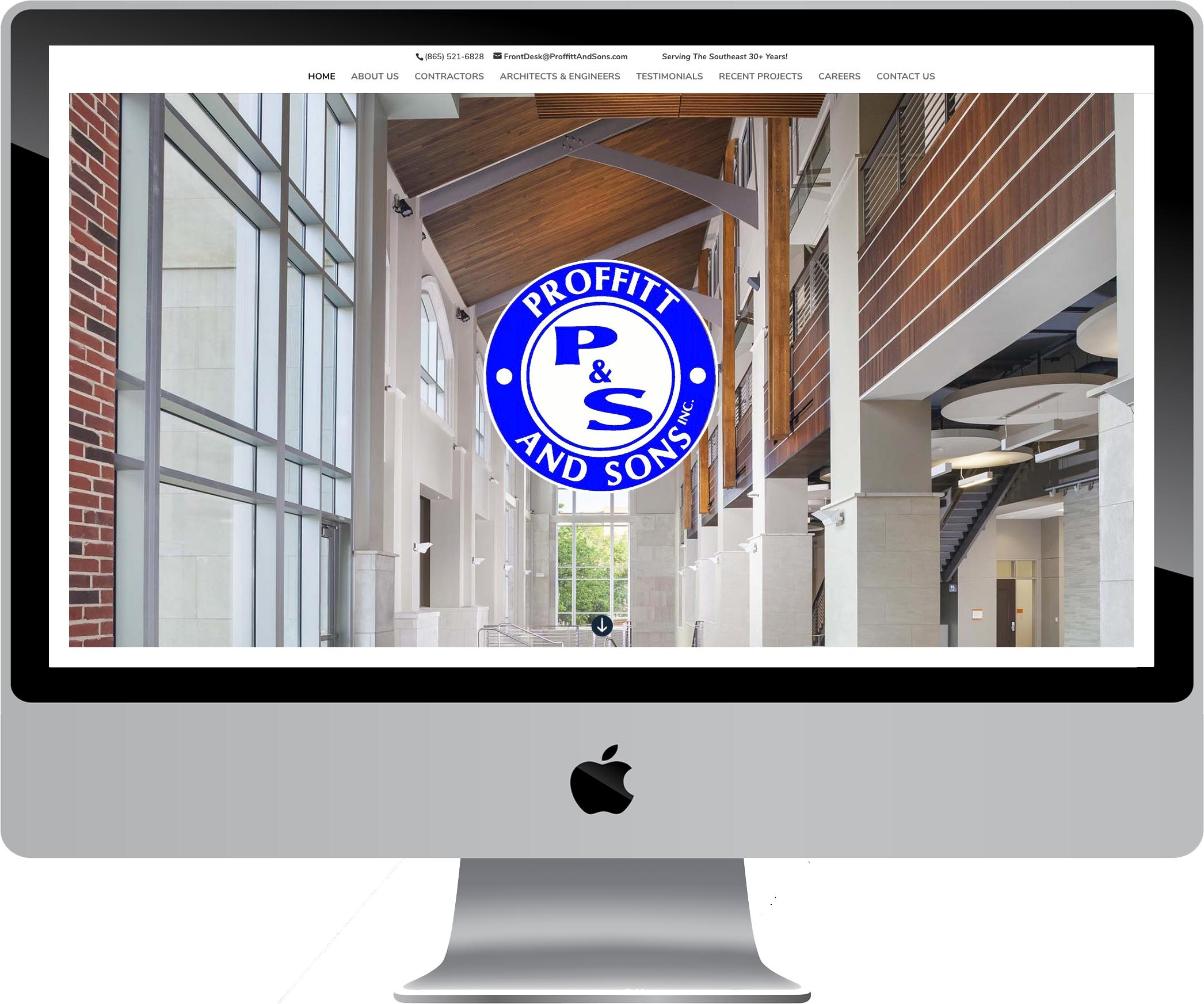 Proffitt & Sons Construction Company Web Design