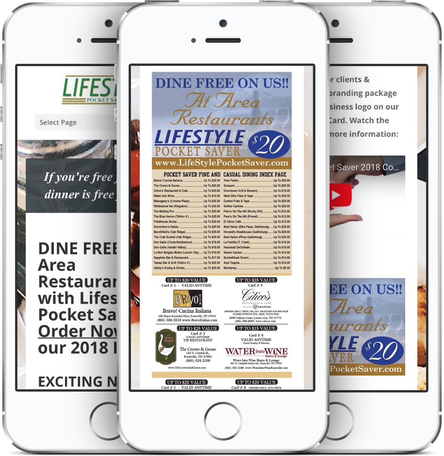 Lifestyle Pocket Saver Mobile-Friendly Web Design