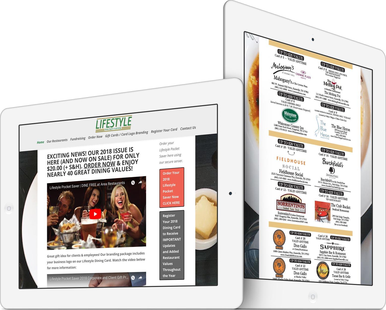 Lifestyle Pocket Saver Responsive Web Design