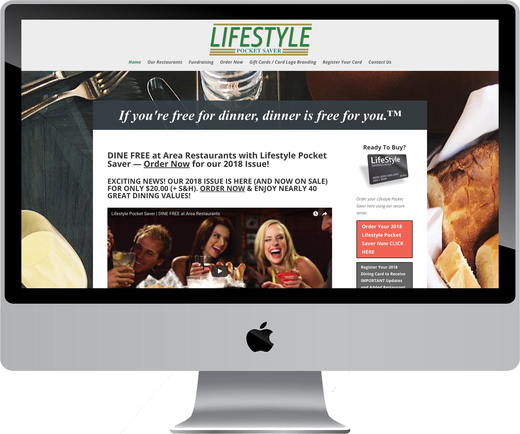 Lifestyle Pocket Saver Website Design