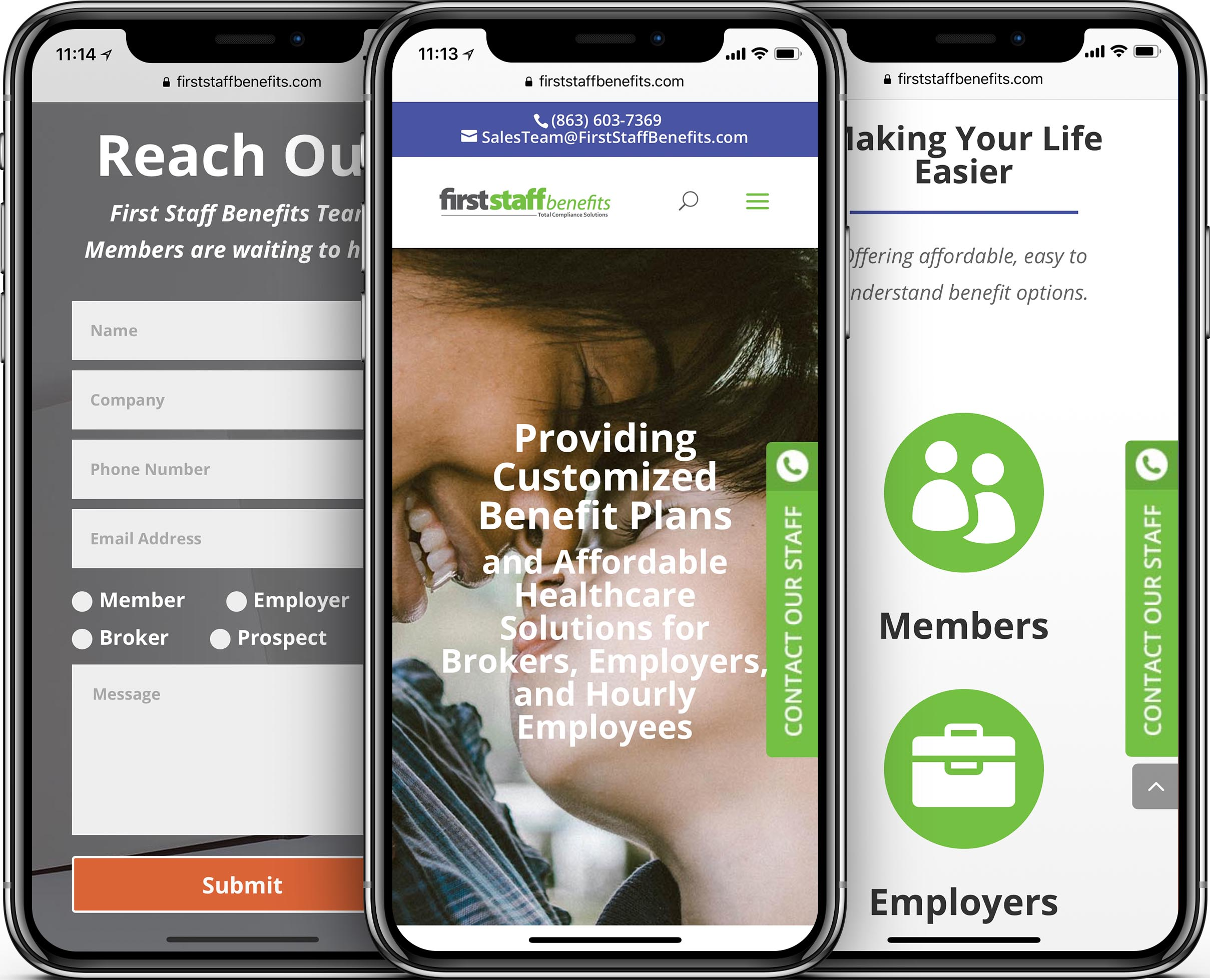 First Staff Benefits Mobile-Friendly Web Design