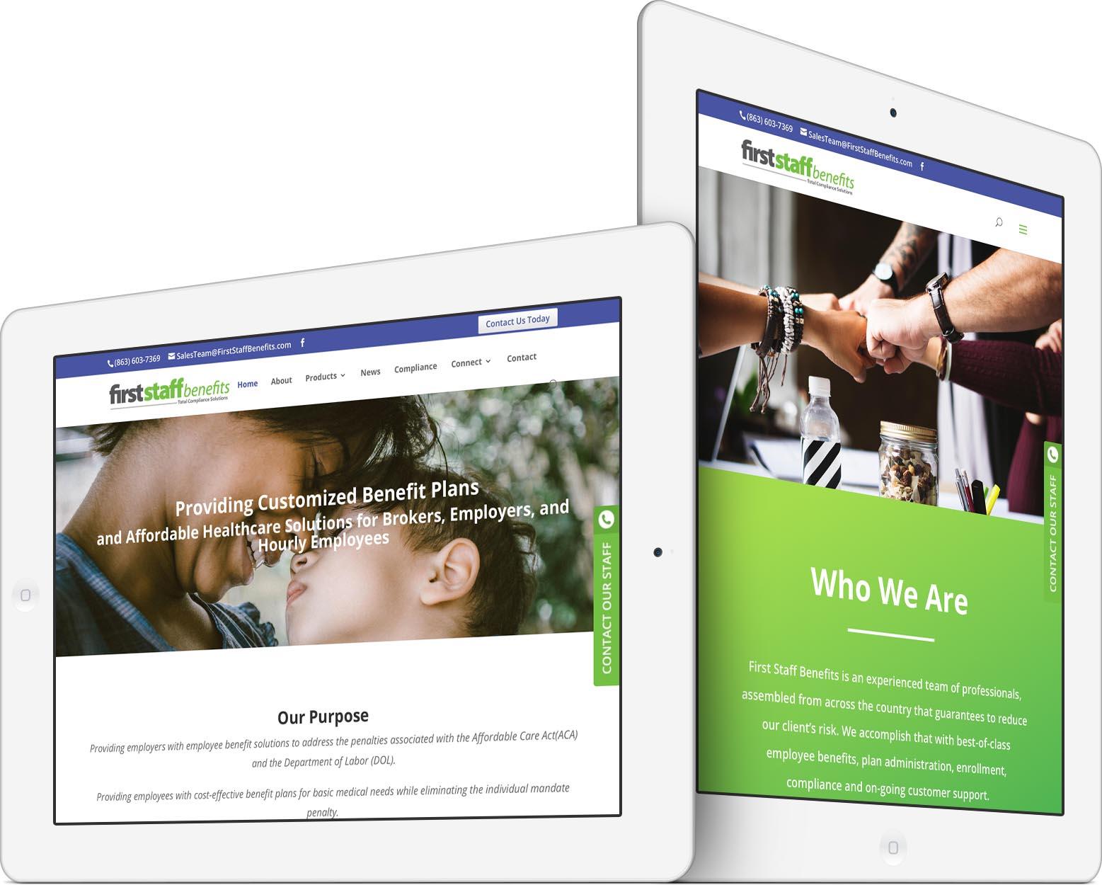 First Staff Benefits Responsive Web Design