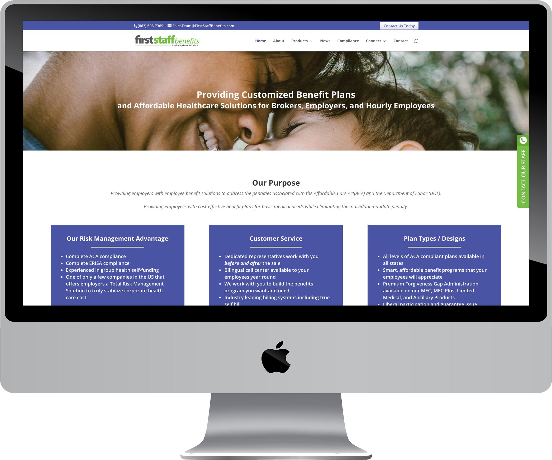 First Staff Benefits Website Design