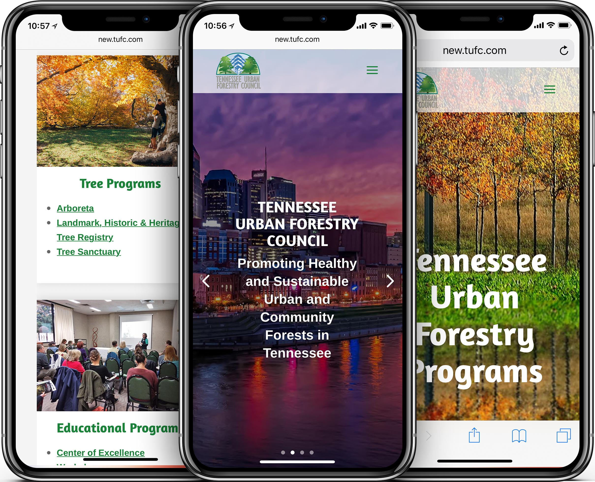 Tennessee Urban Forestry Council Mobile-Friendly Web Design