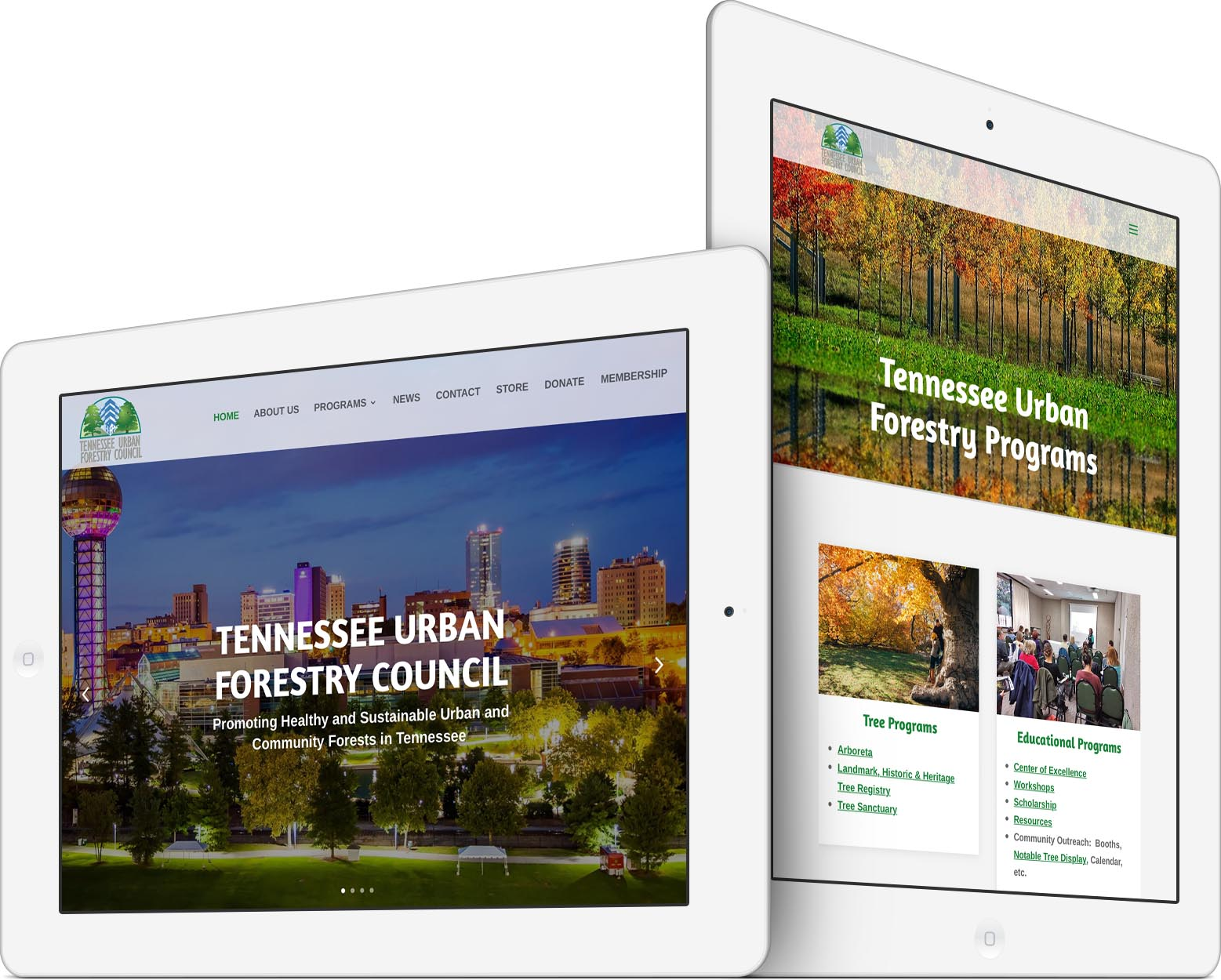 Tennessee Urban Forestry Council Responsive Web Design