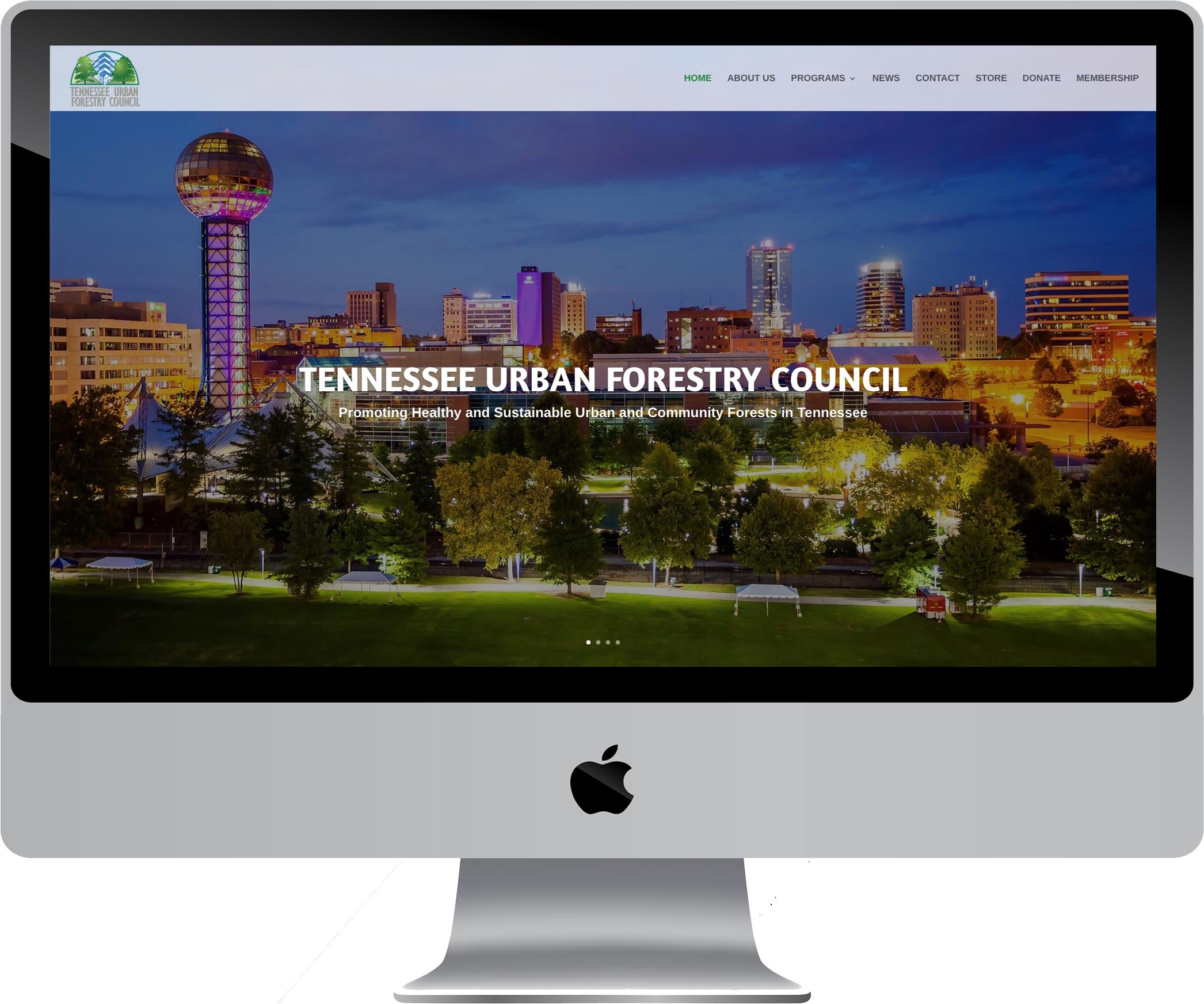 Tennessee Urban Forestry Council Website Design