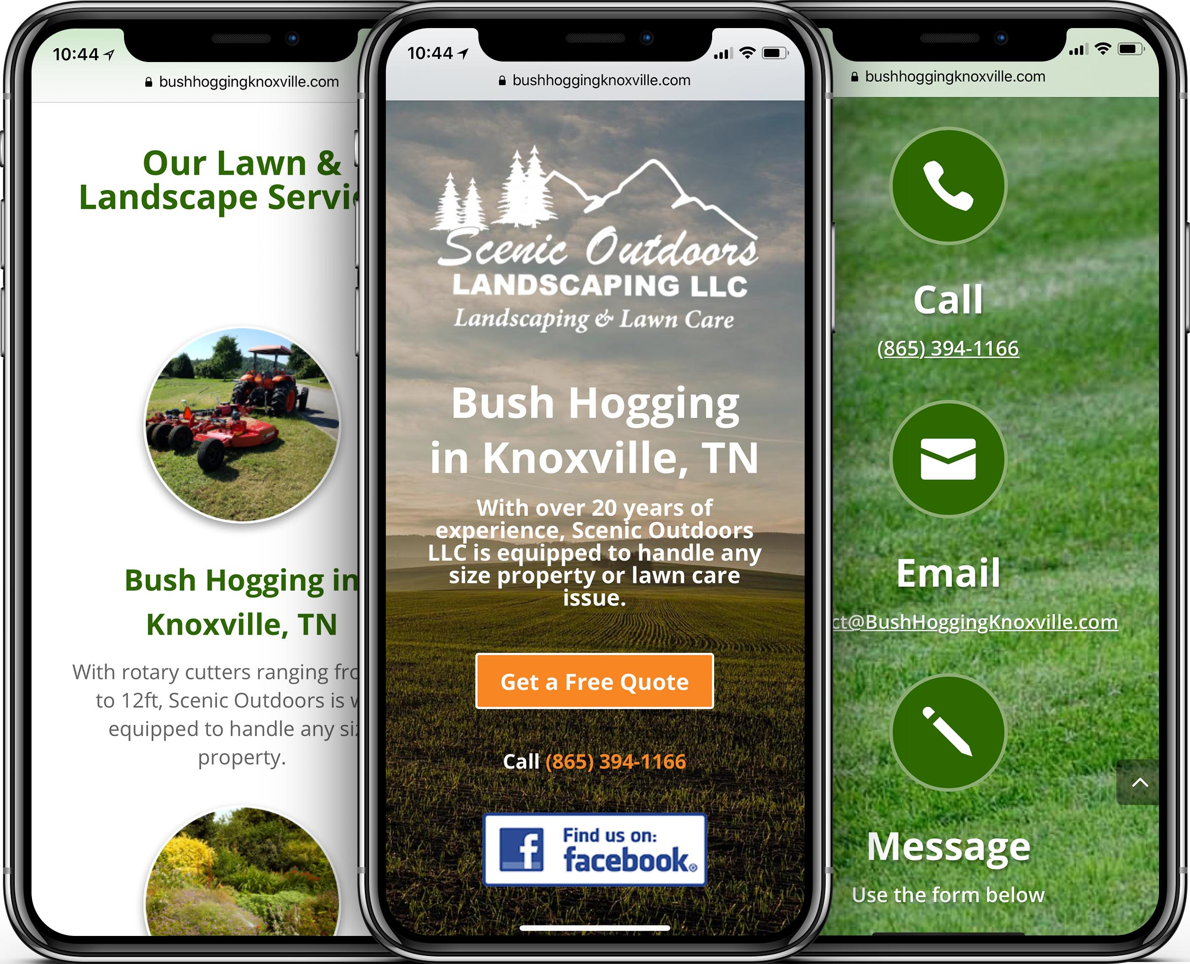 Scenic Outdoors Mobile-Friendly Web Design