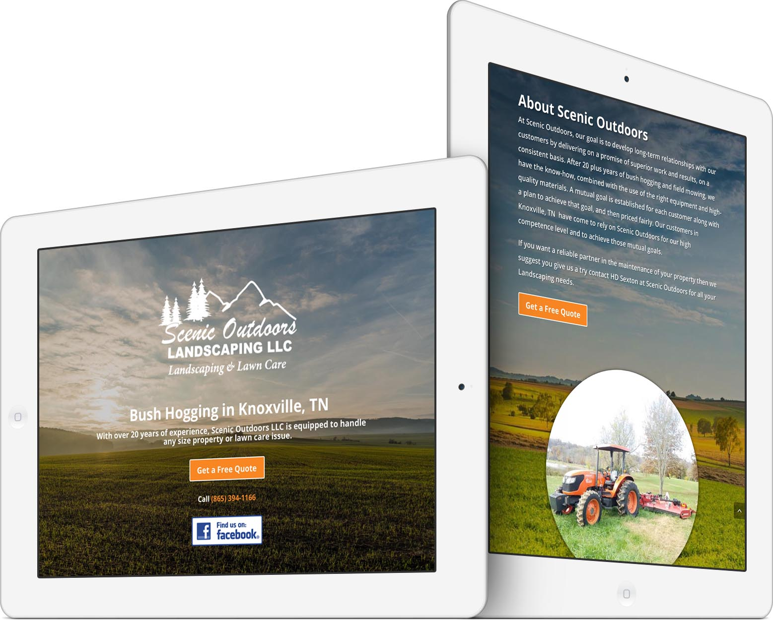 Scenic Outdoors Responsive Web Design