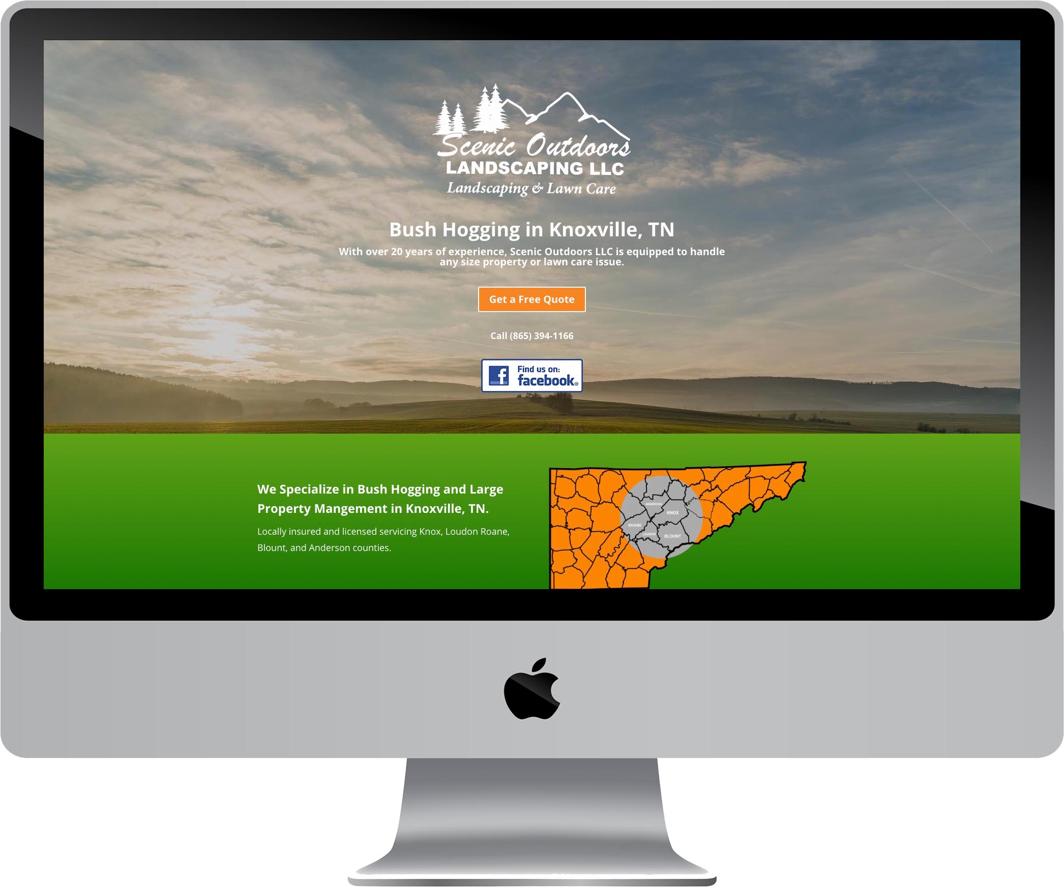 Scenic Outdoors Website Design