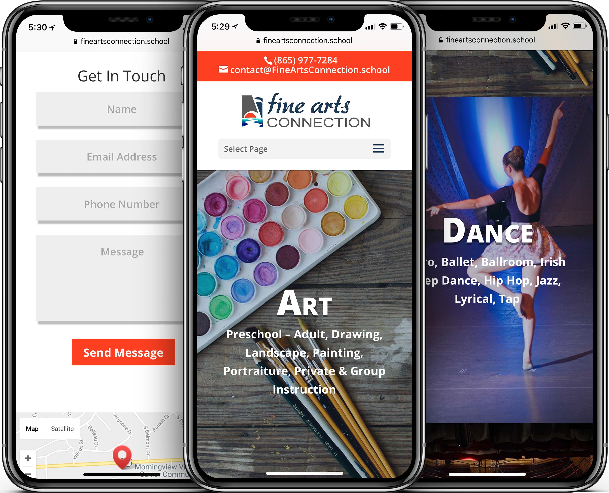 Fine Arts Connection Mobile-Friendly Web Design