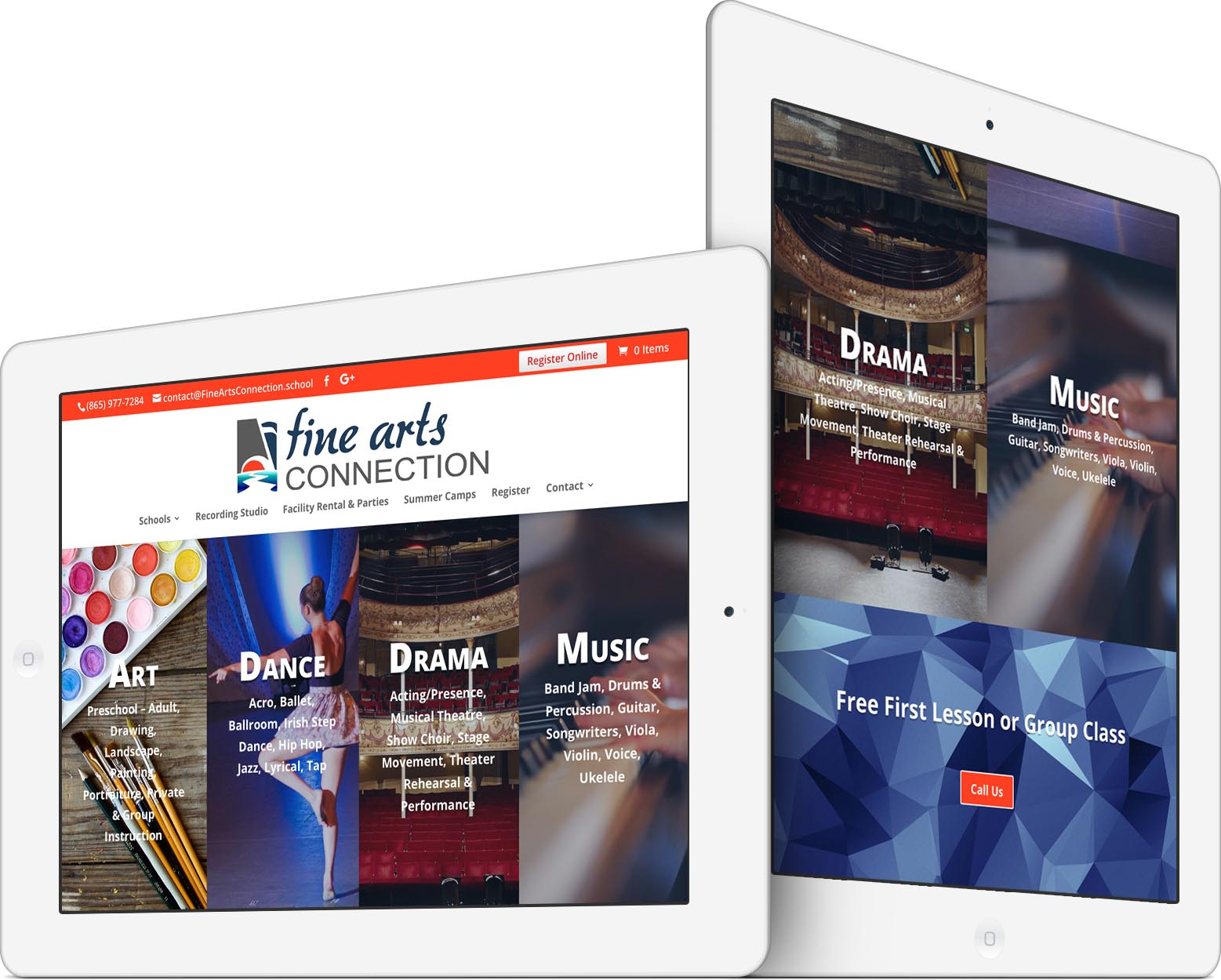 Fine Arts Connection Responsive Web Design