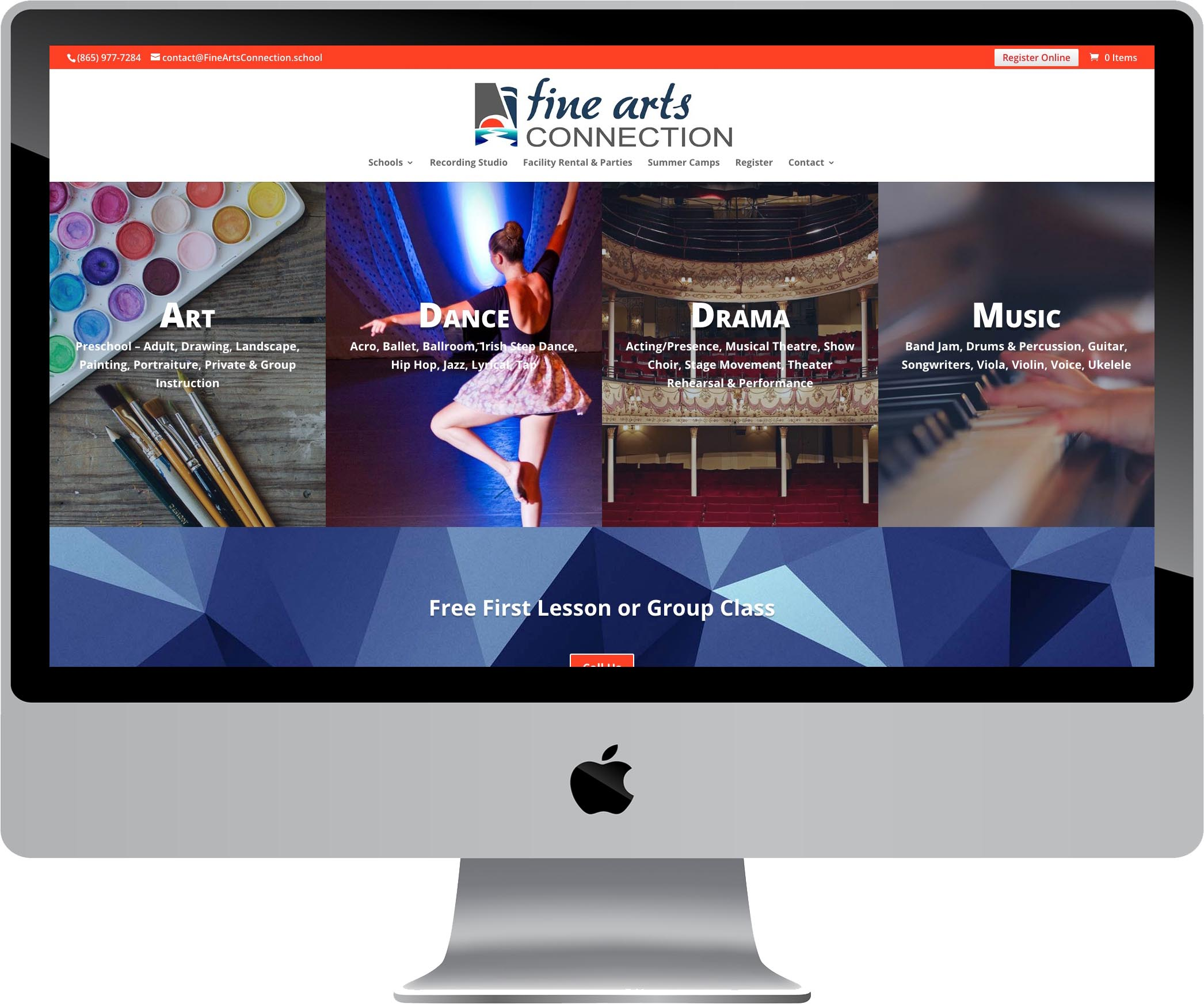 Fine Arts Connection Website Design
