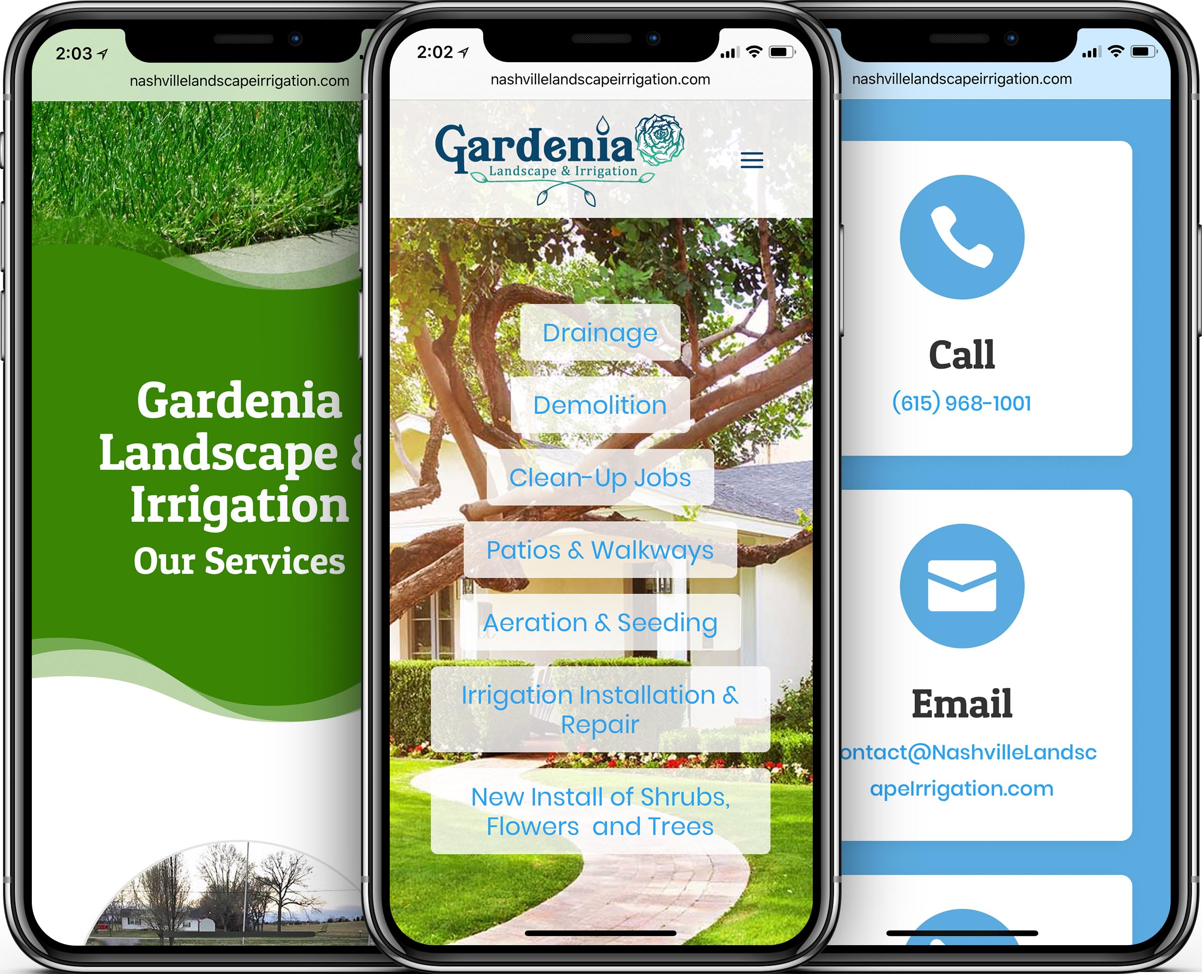 Gardenia Landscape & Irrigation Mobile-Friendly Web Design