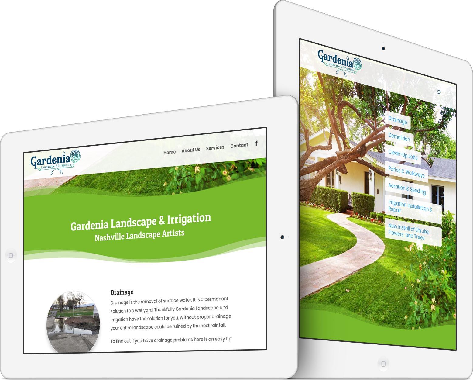 Gardenia Landscape & Irrigation Responsive Web Design