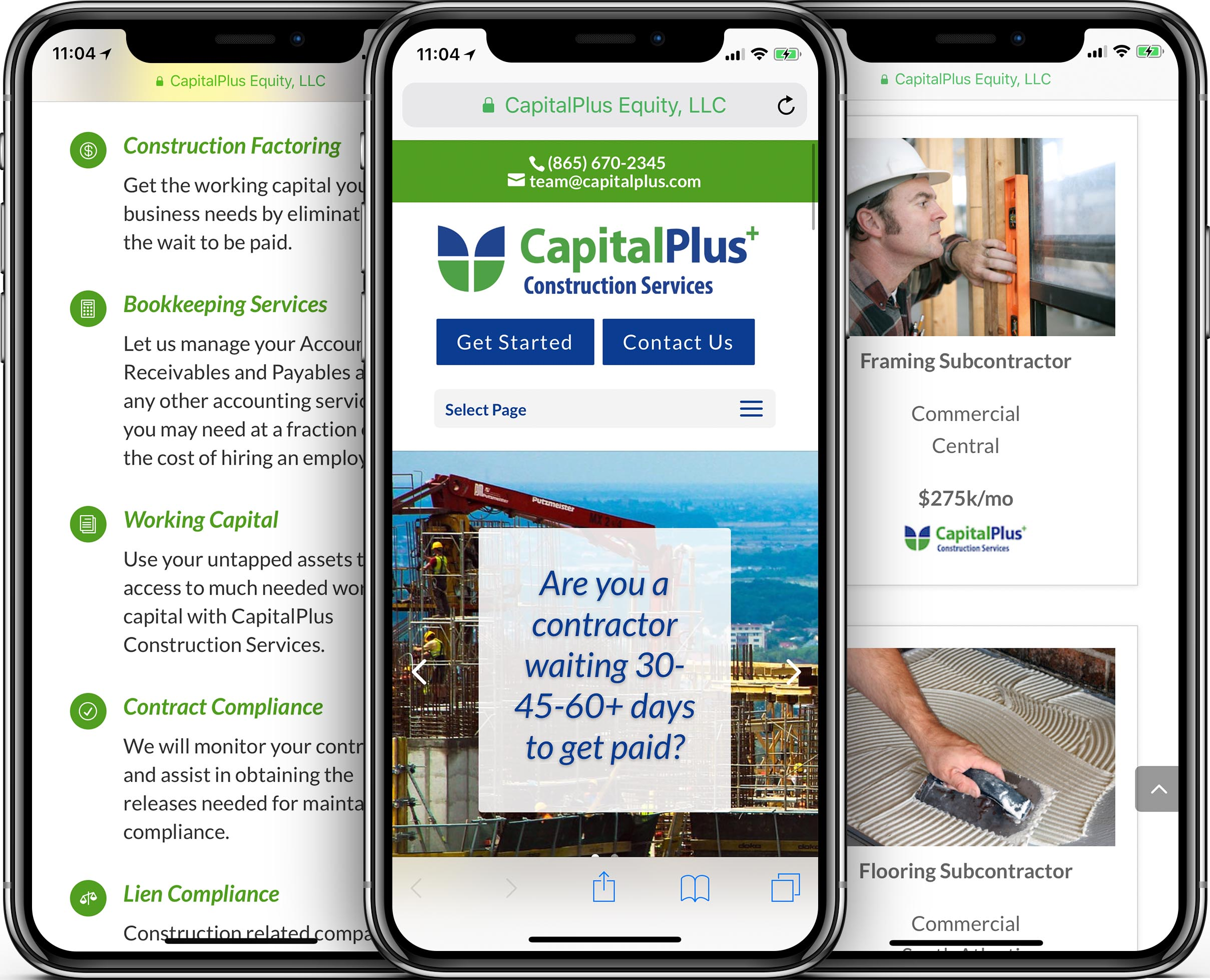 CapitalPlus Mobile-Friendly Web Design