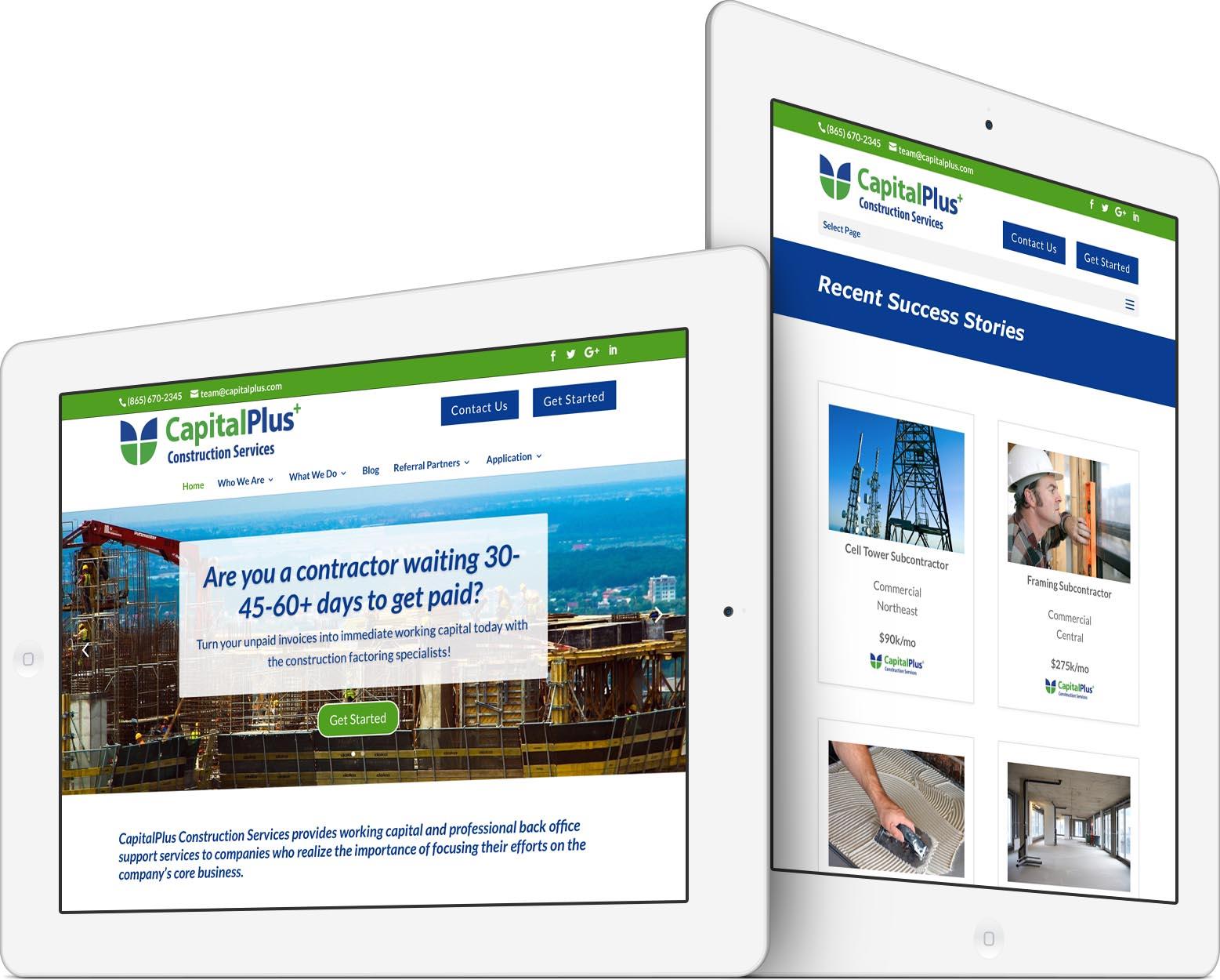 CapitalPlus Responsive Web Design