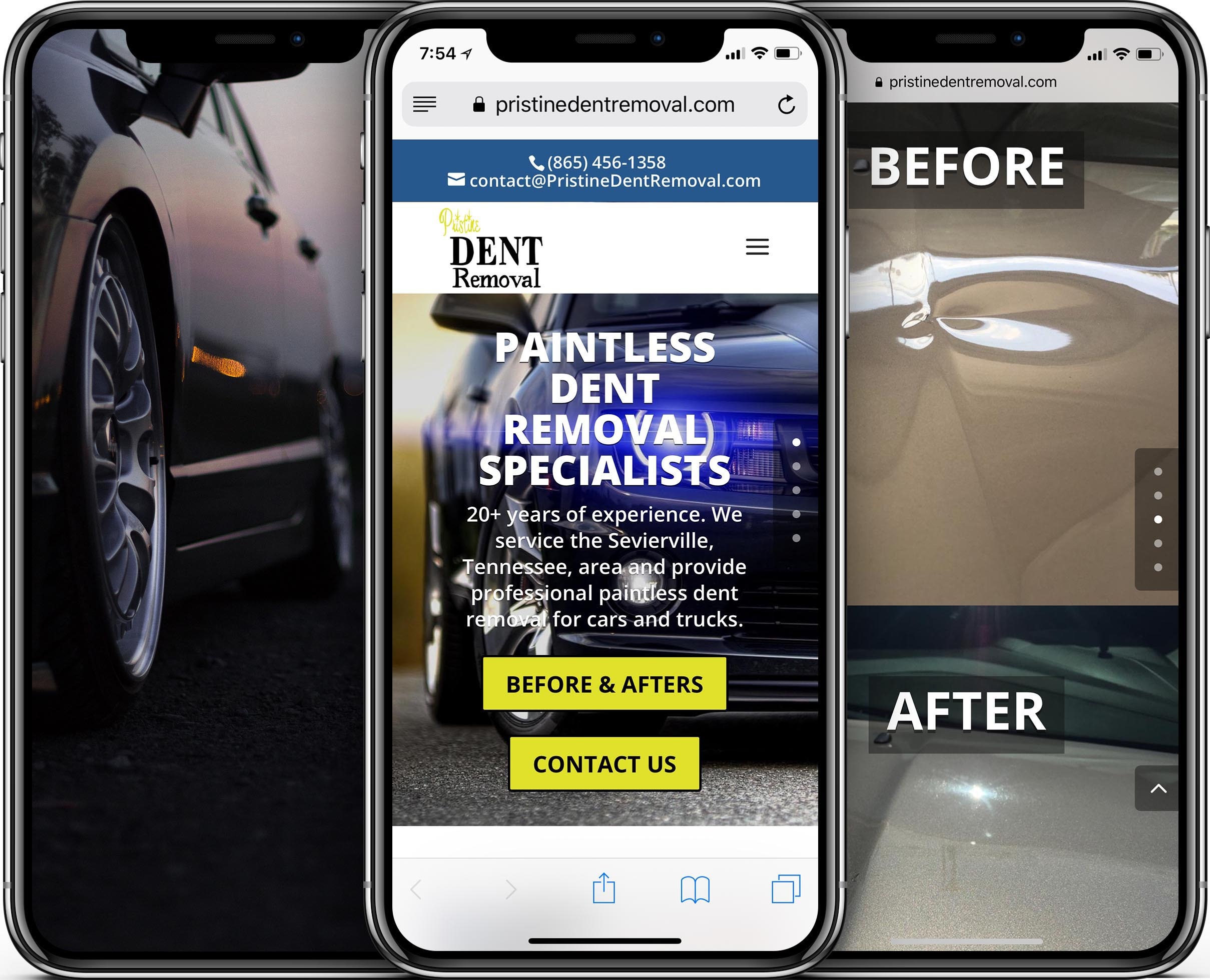 Pristine Dent Removal Mobile-Friendly Web Design