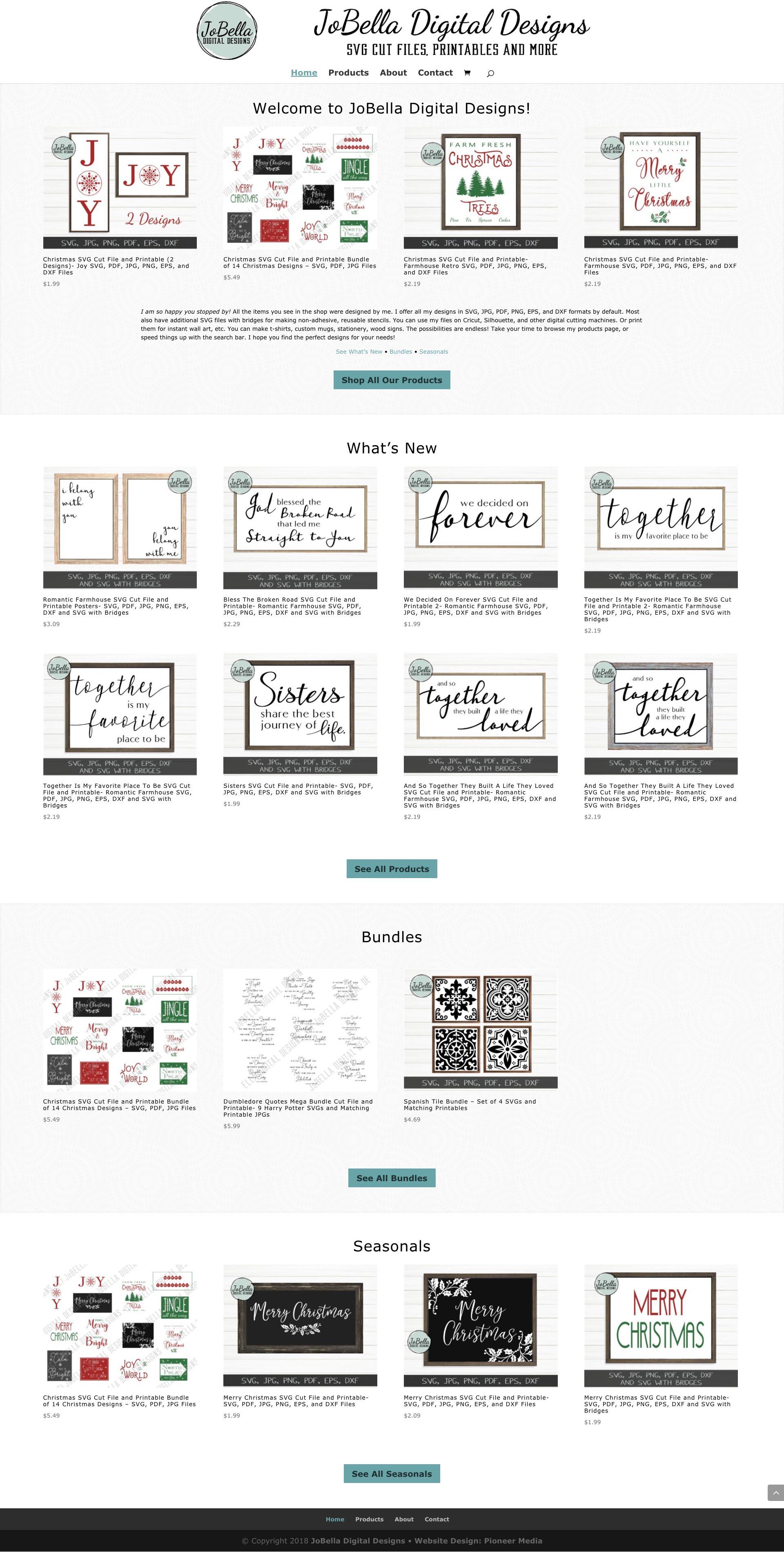 JoBella Digital Designs Website Design Homepage