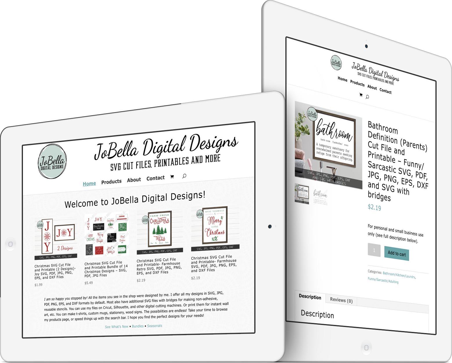 JoBella Digital Designs Responsive Web Design