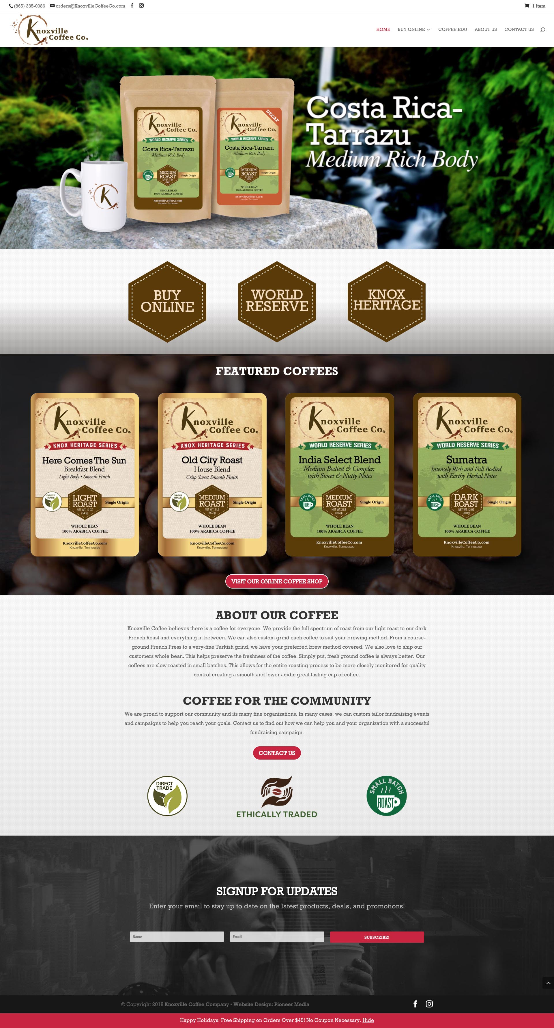 Knoxville Coffee Company Homepage