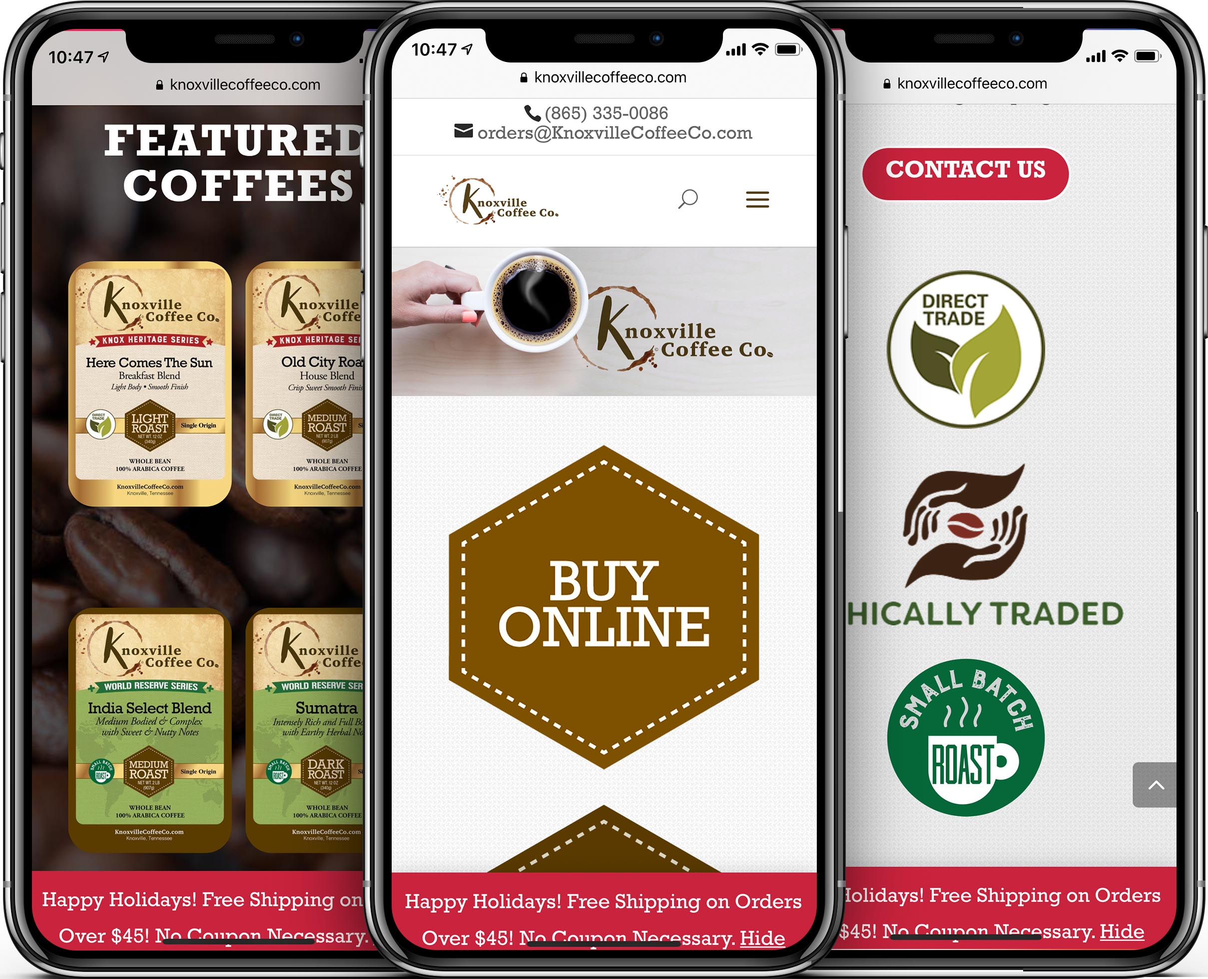 Knoxville Coffee Company Mobile-Friendly Web Design