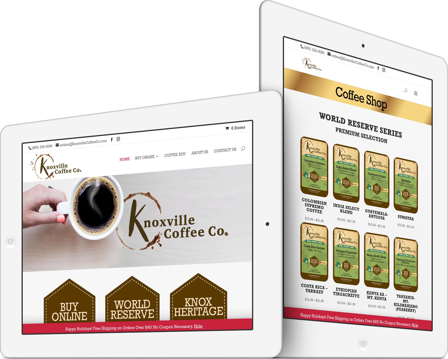Knoxville Coffee Company Responsive Web Design