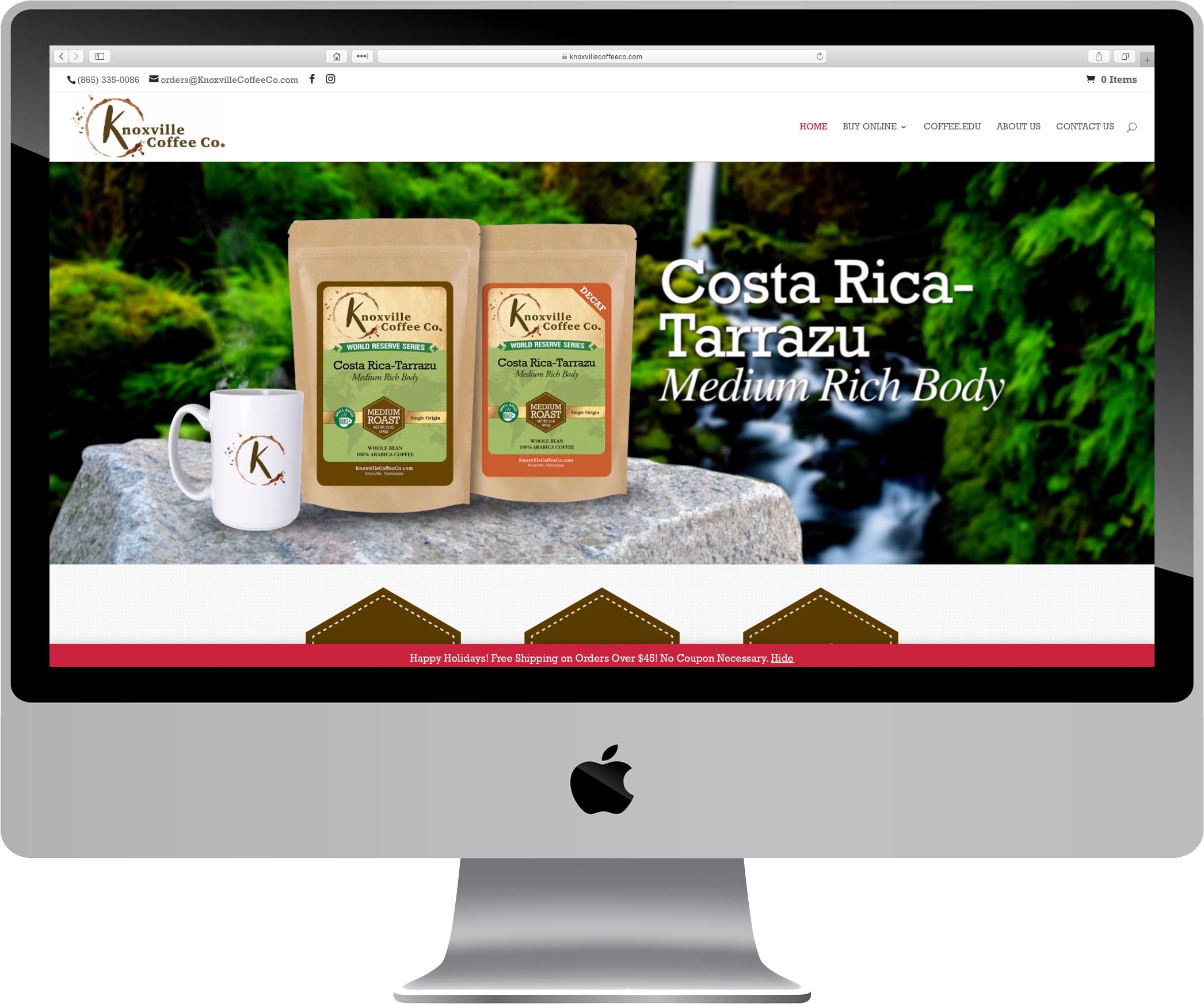Knoxville Coffee Company Website Design