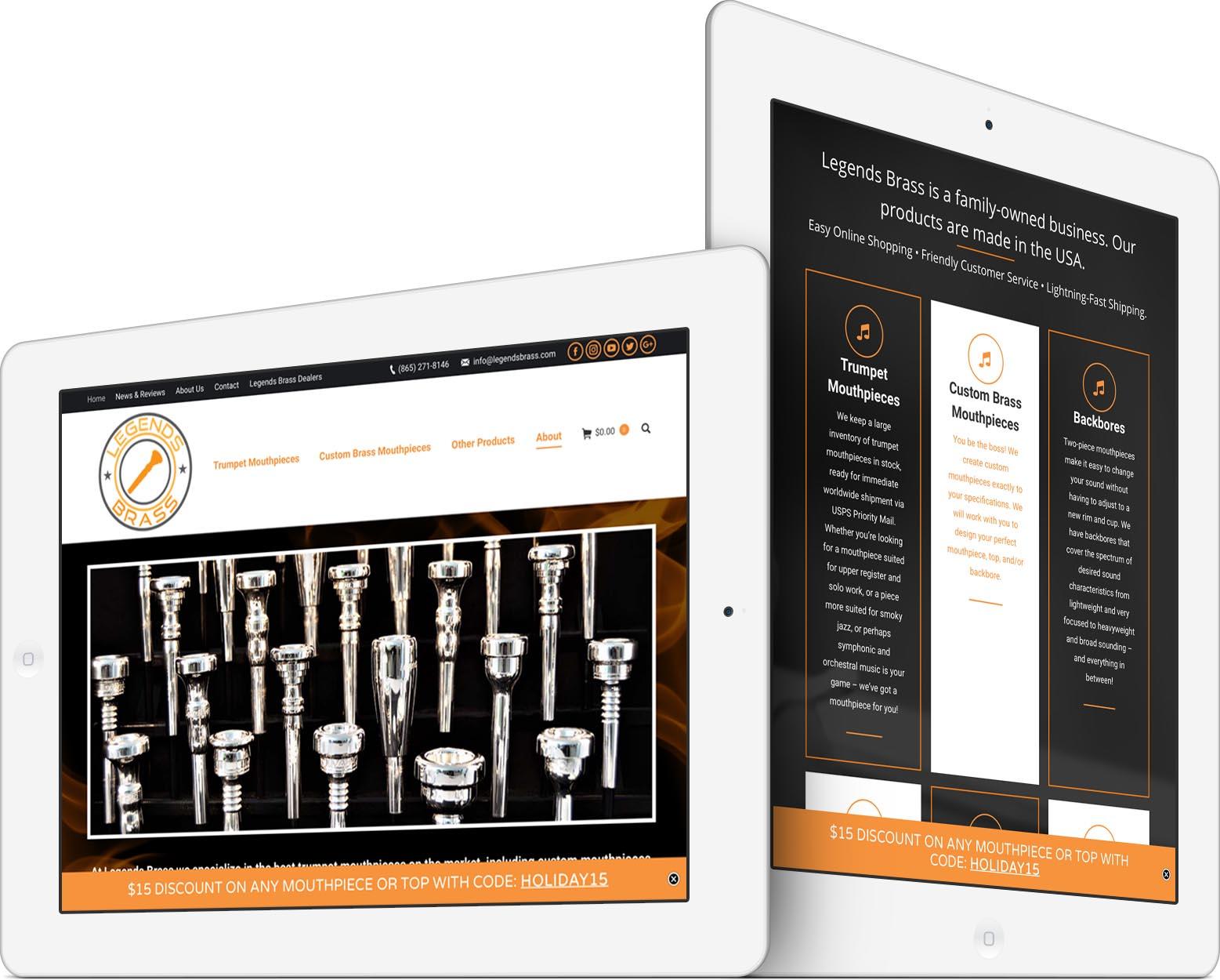 Legends Brass Responsive Web Design