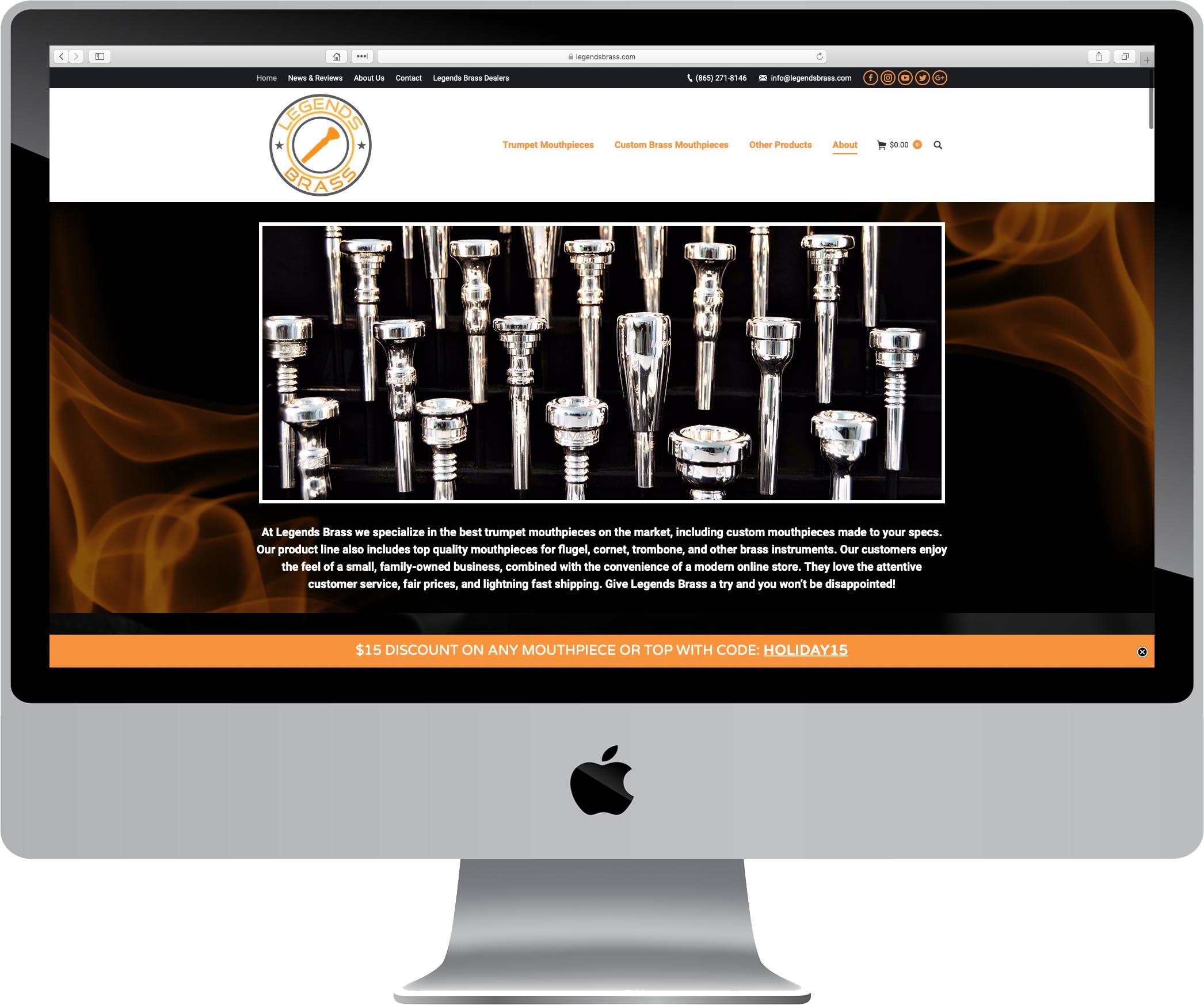 Legends Brass Website Design