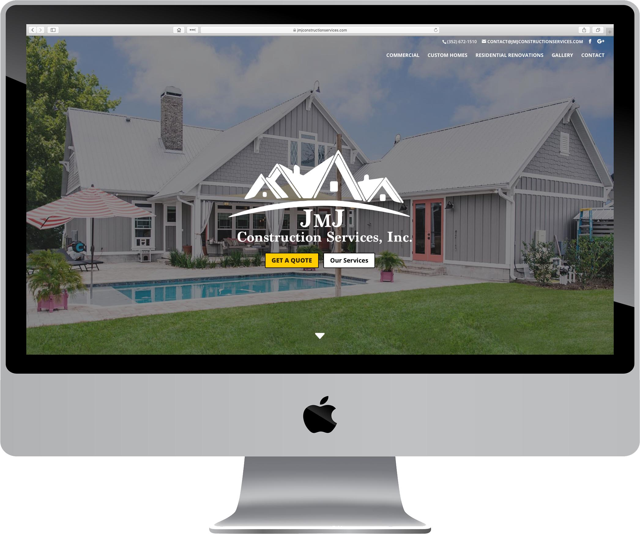 JMJ Construction Services Website Design