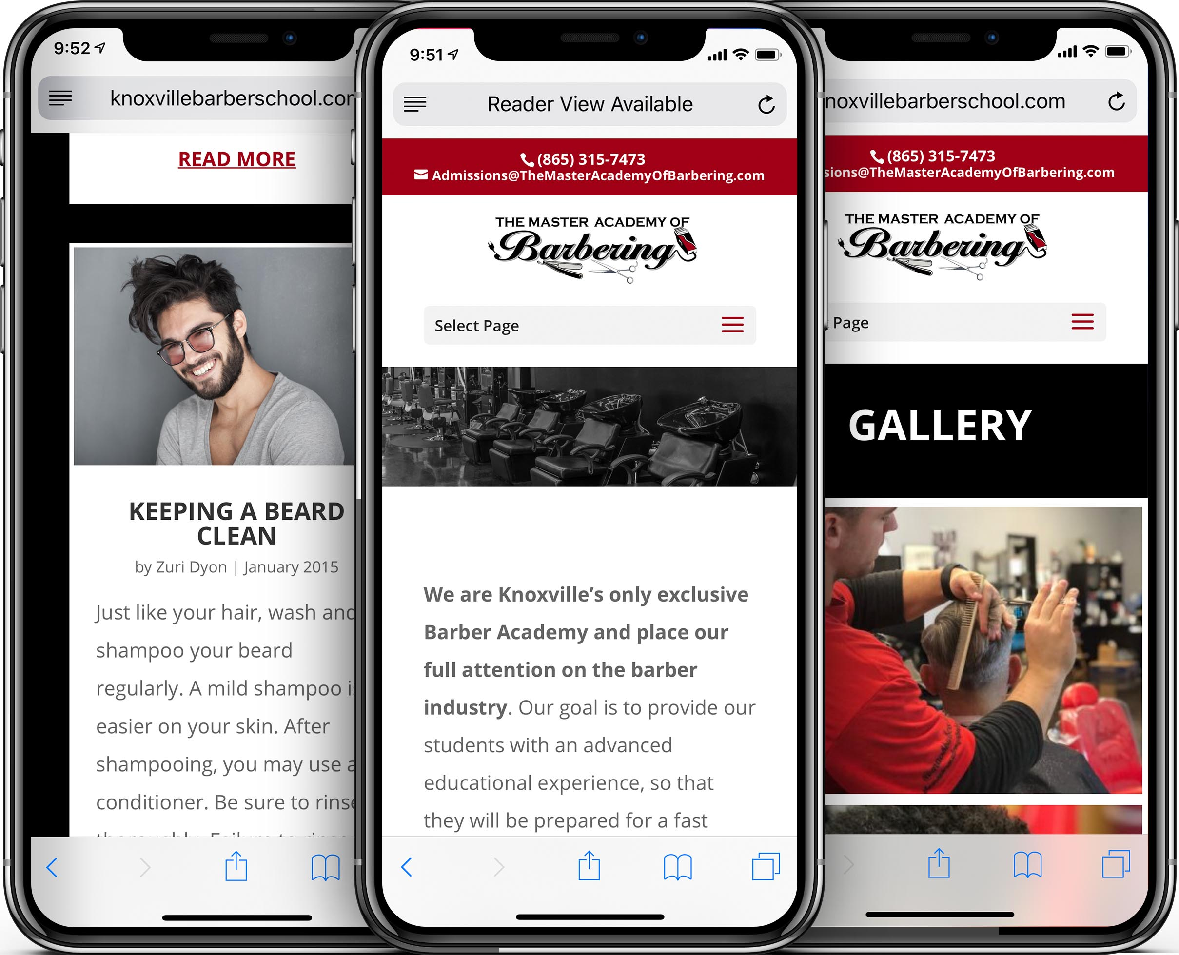 Master Academy of Barbering Mobile-Friendly Web Design