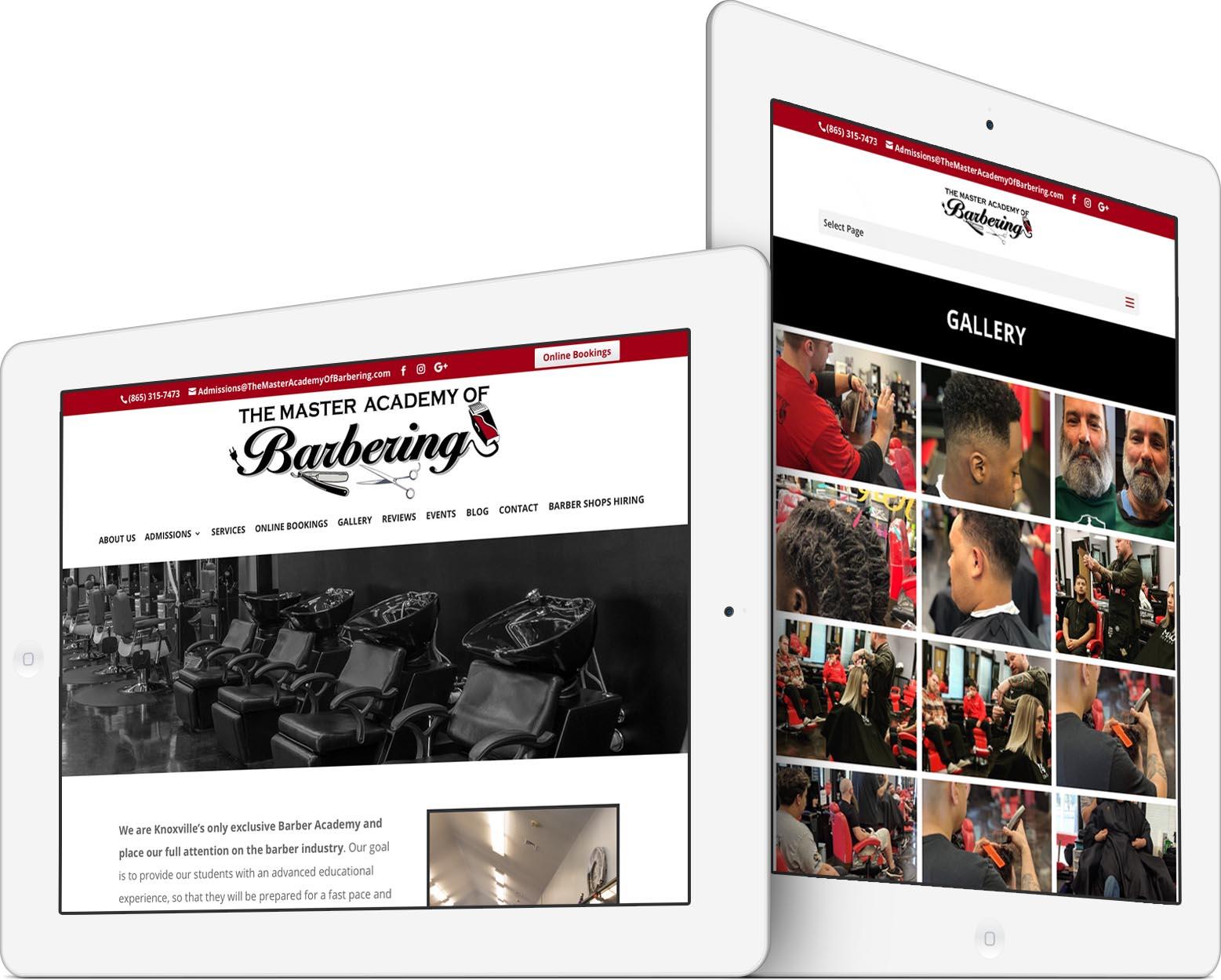 Master Academy of Barbering Responsive Web Design