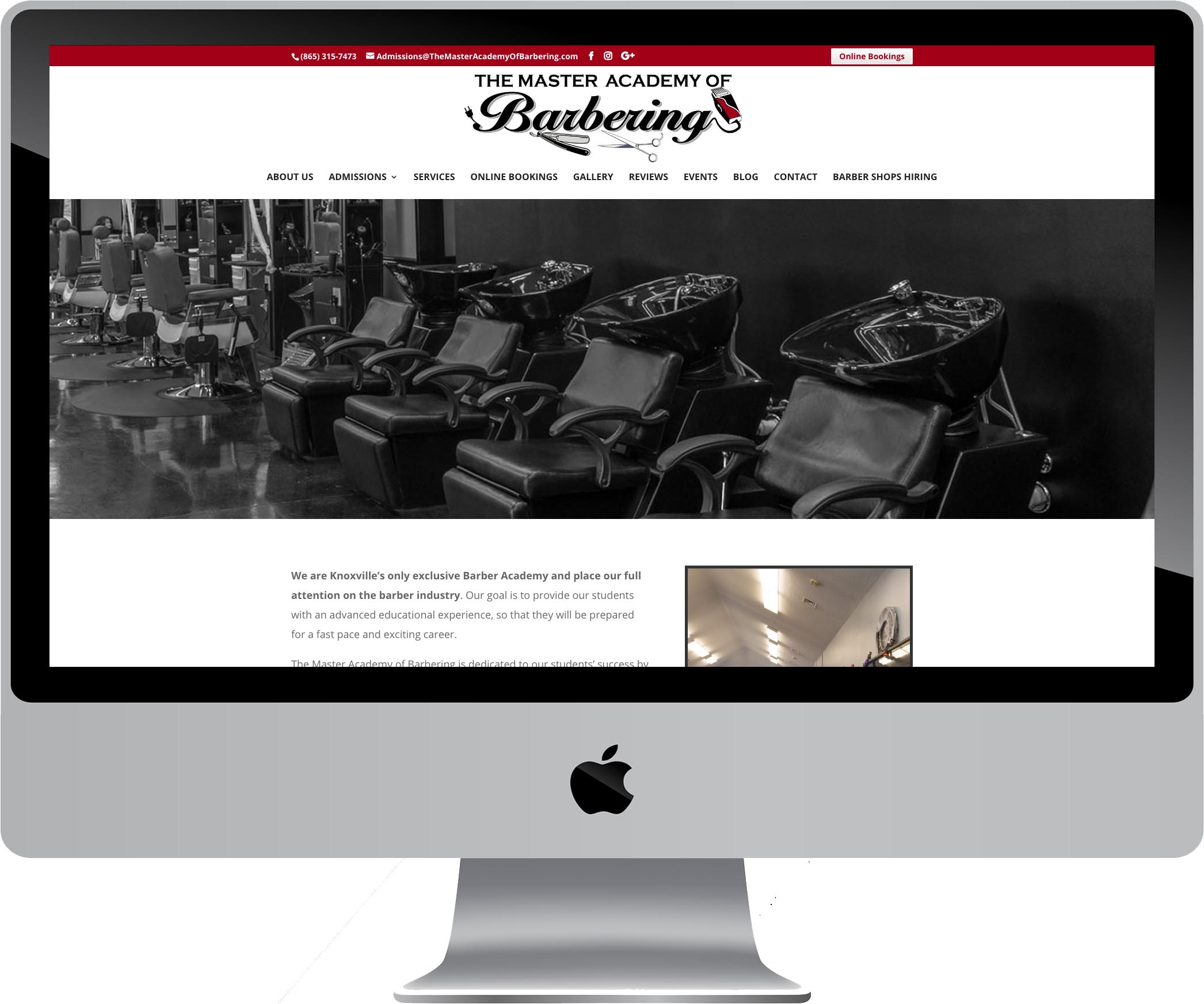 Master Academy of Barbering Website Design