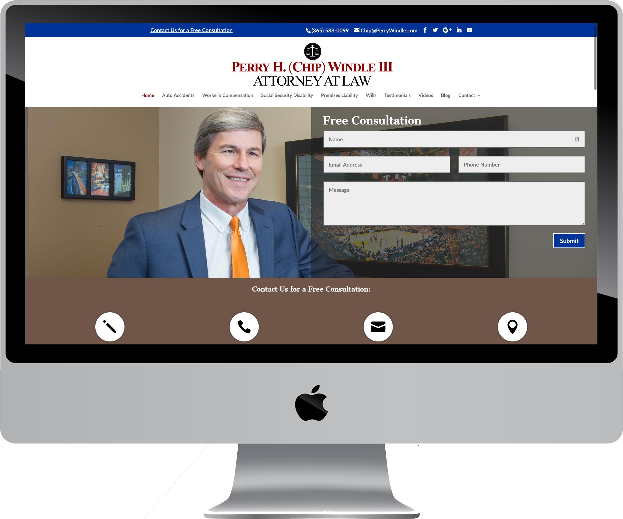 Perry H. Windle Attorney Web Design