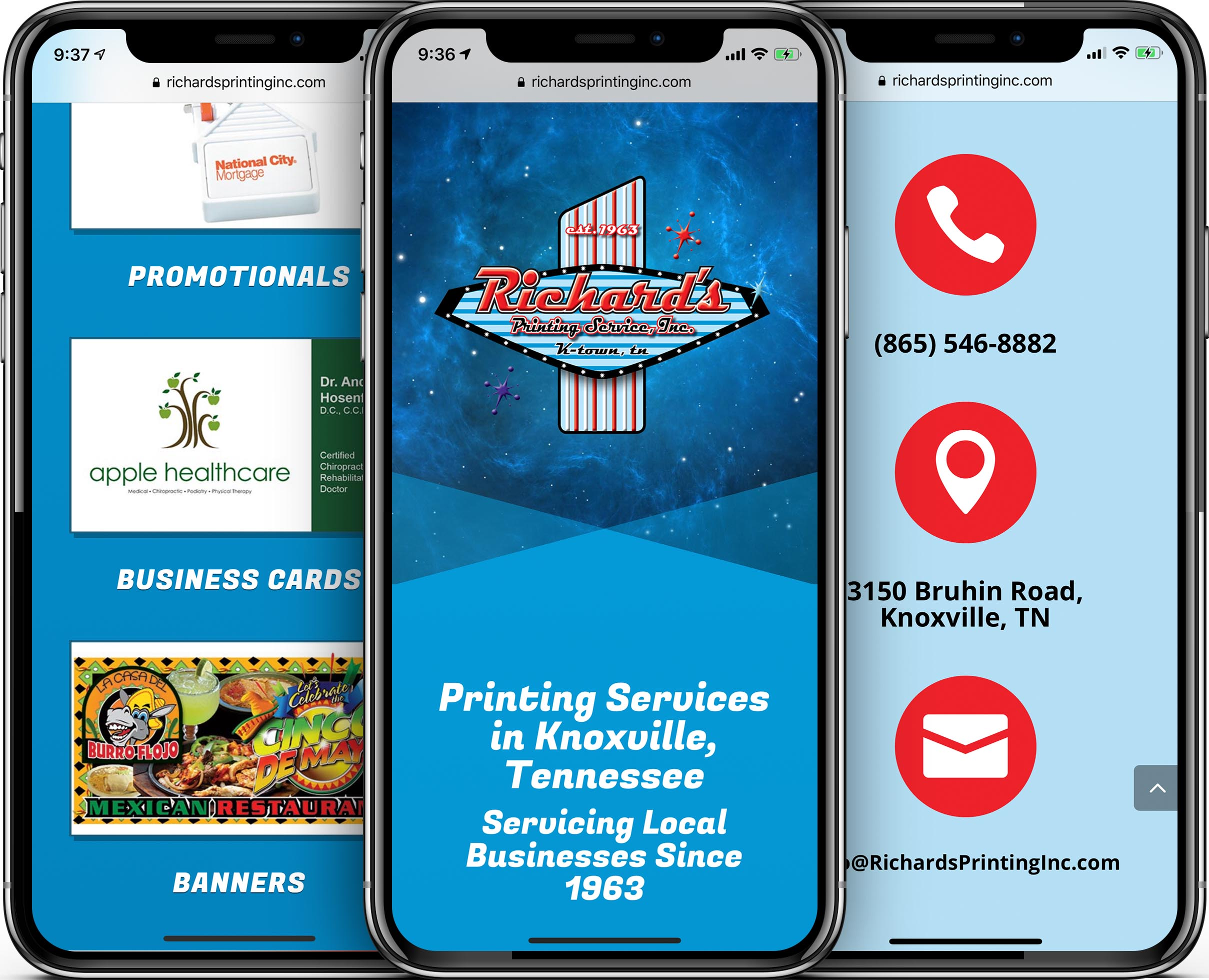 Richard's Printing Services Mobile-Friendly Web Design