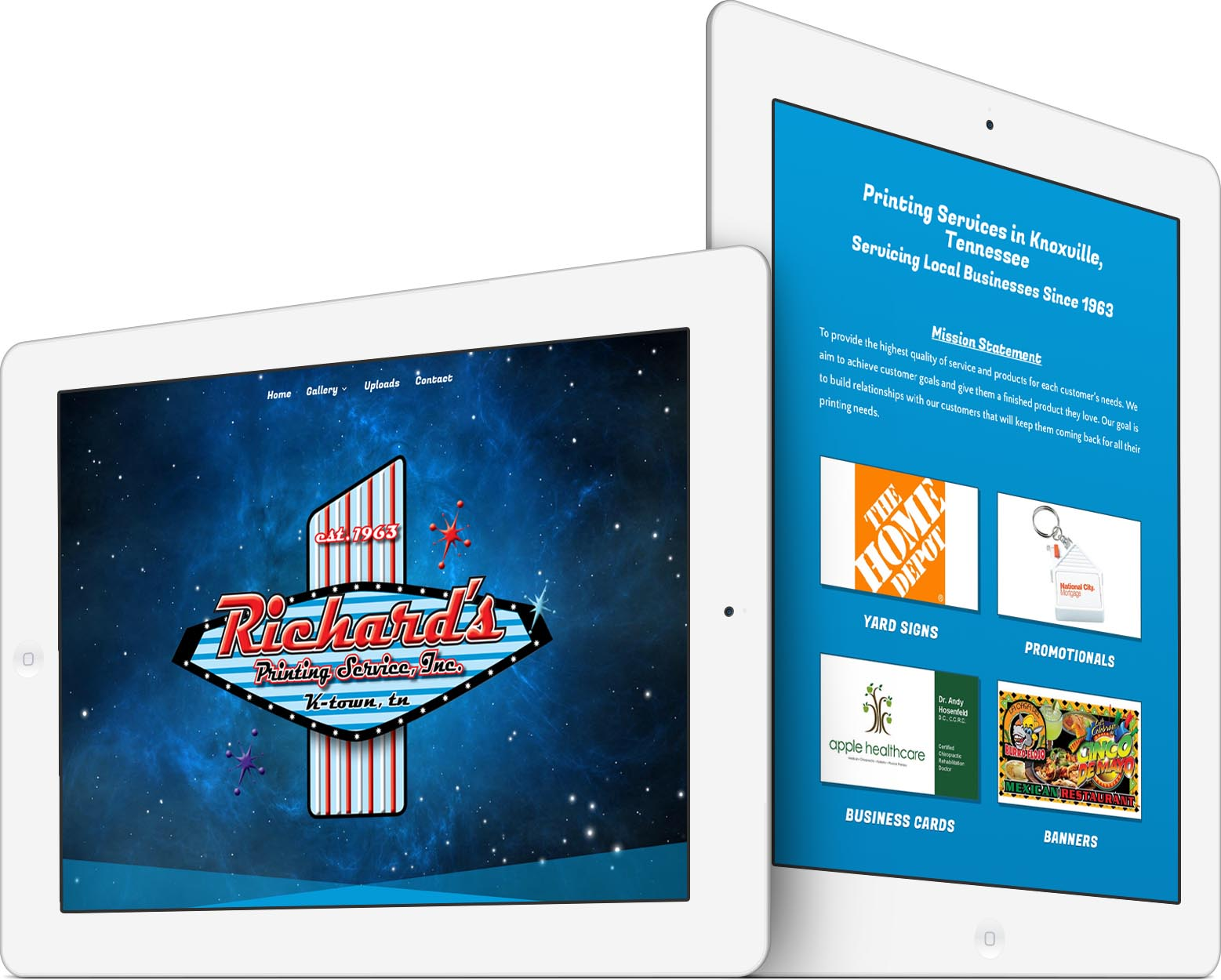 Richard's Printing Services Responsive Web Design