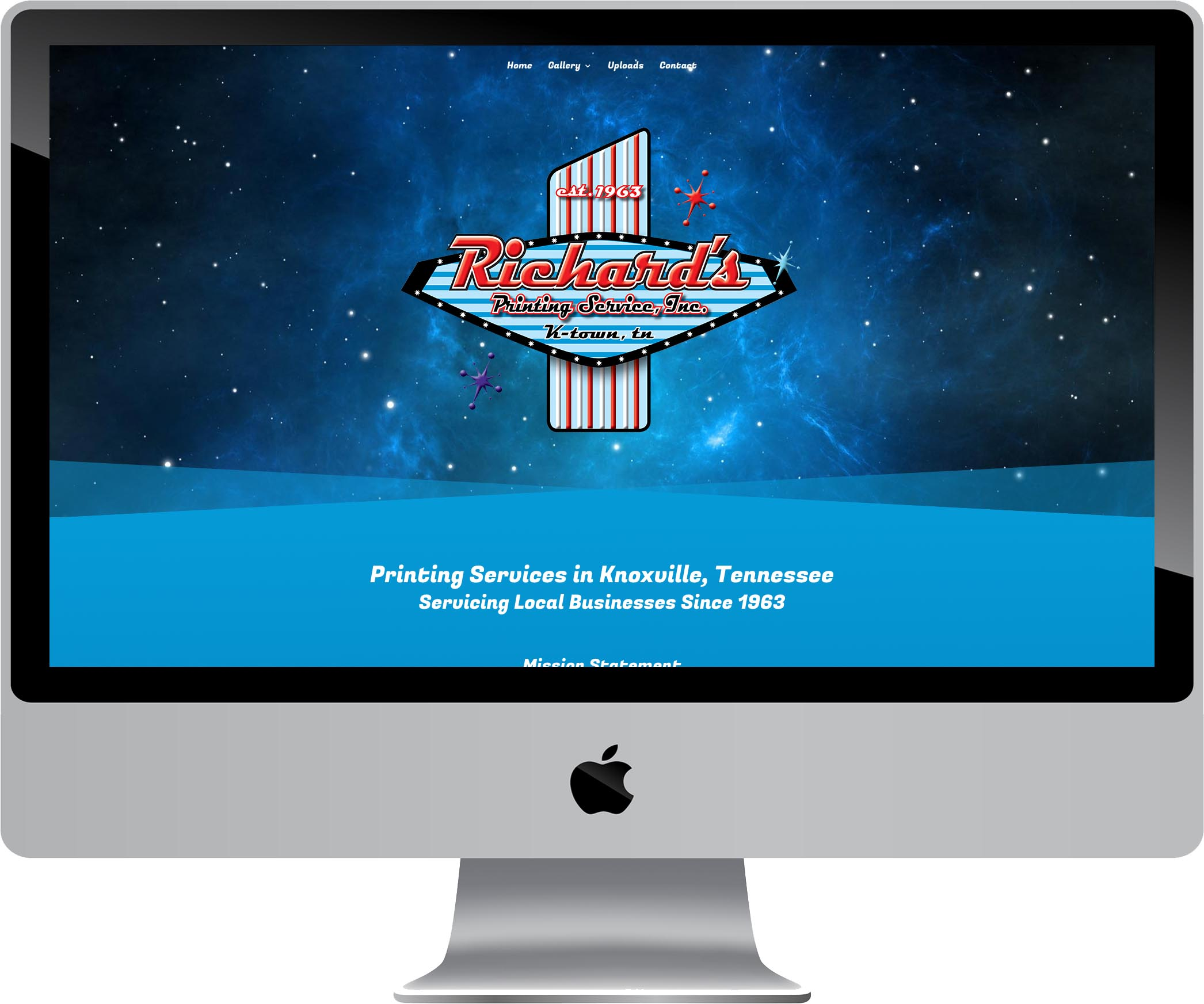 Richard's Printing Services Website Design