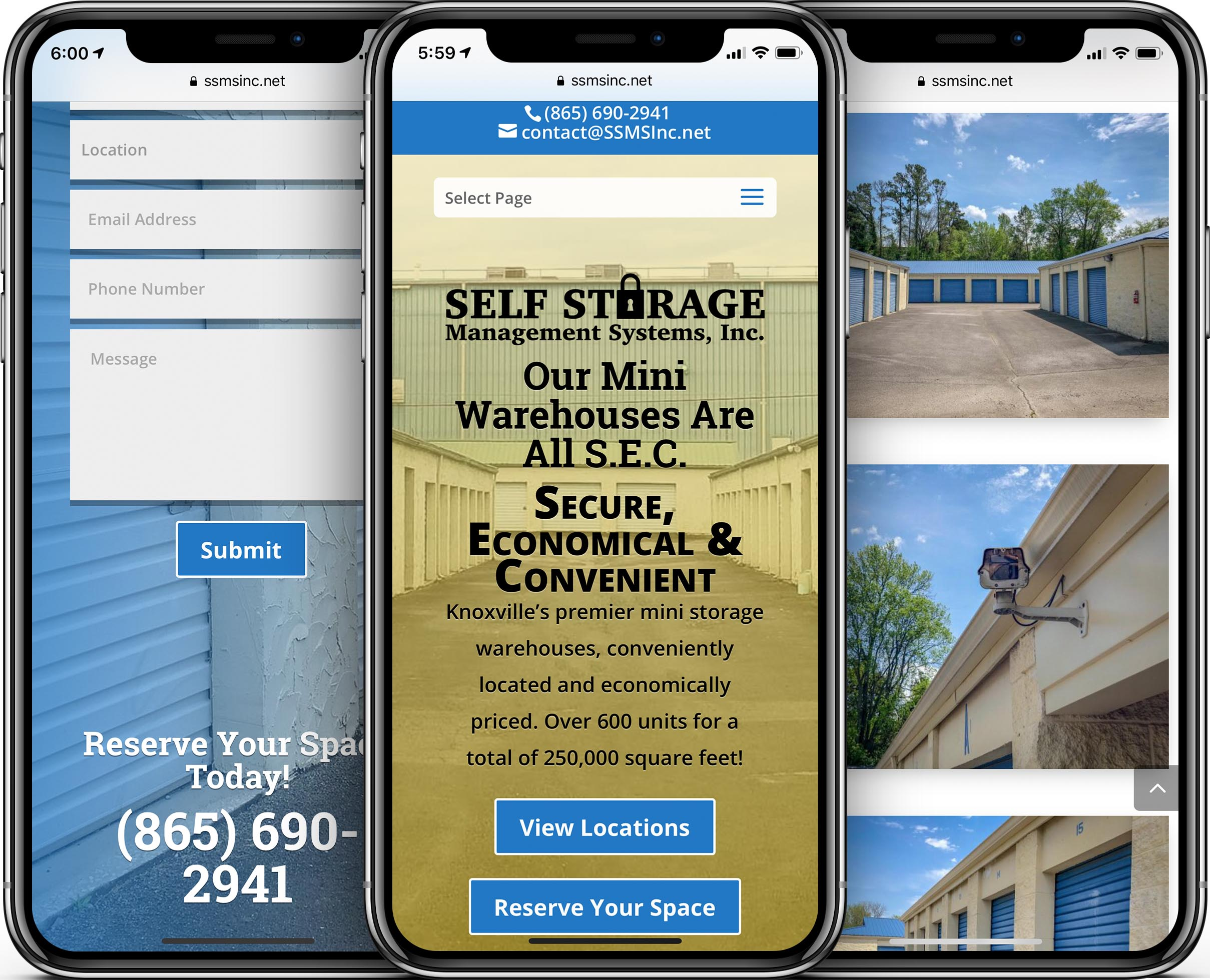 Self Storage Management Systems Mobile-Friendly Web Design